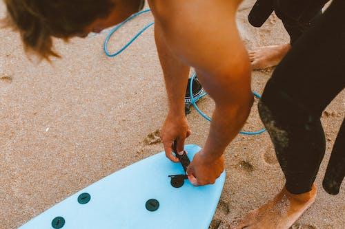 Foto stok gratis lucu, musim panas, pantai, papan luncur