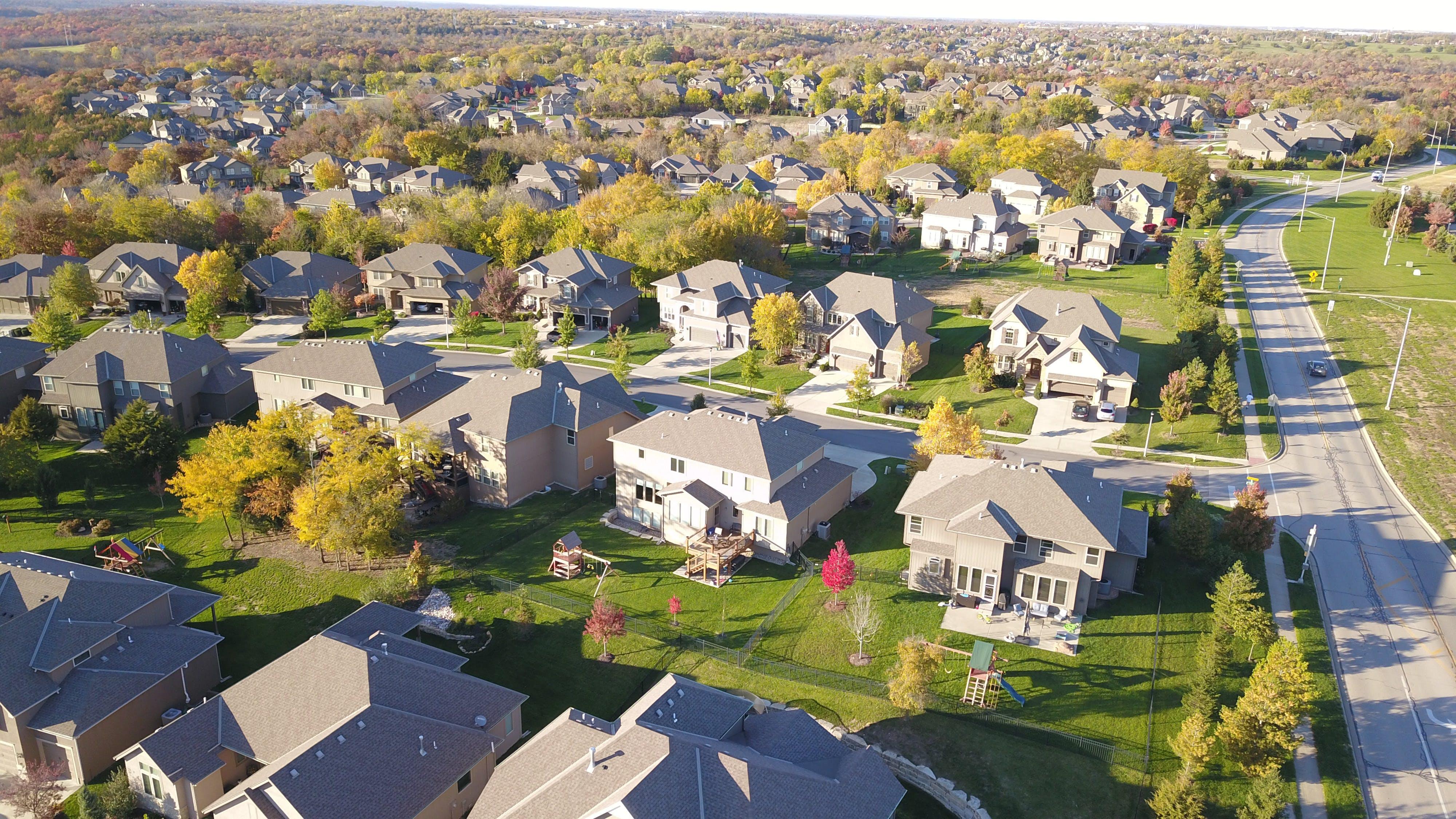 Free stock photo of houses, aerial, neighborhood, real estate