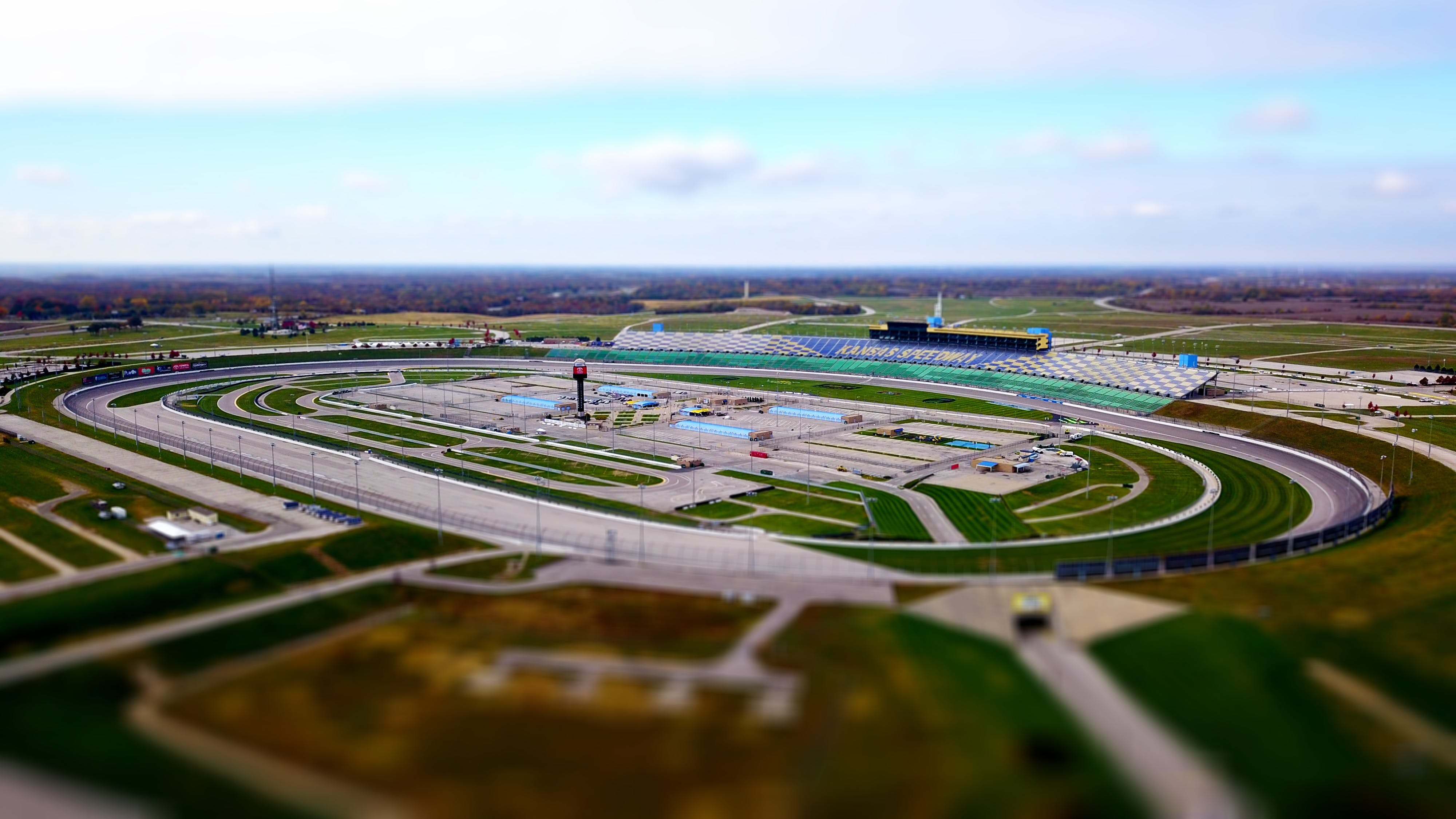 Free stock photo of aerial, speedway, race track, nascar