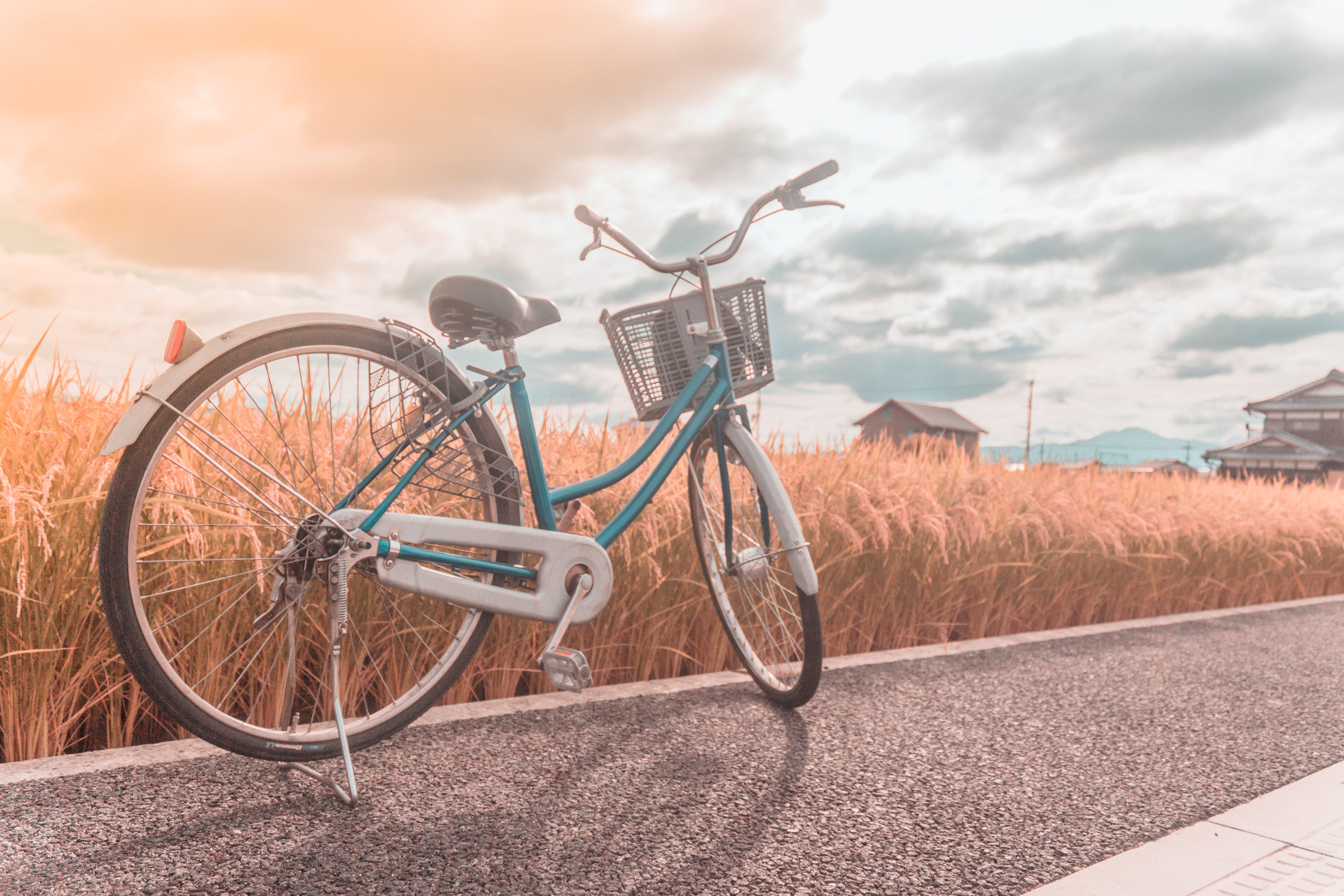 Free stock photo of bicycle, biking, cardio, golden hour