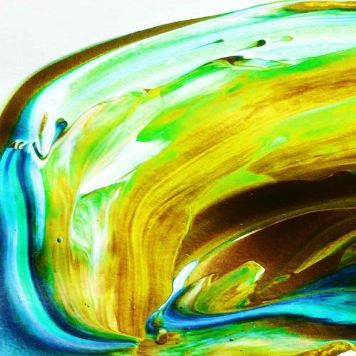 Gratis lagerfoto af abstrakt oliemaleri, akryl, akvarel, årgang