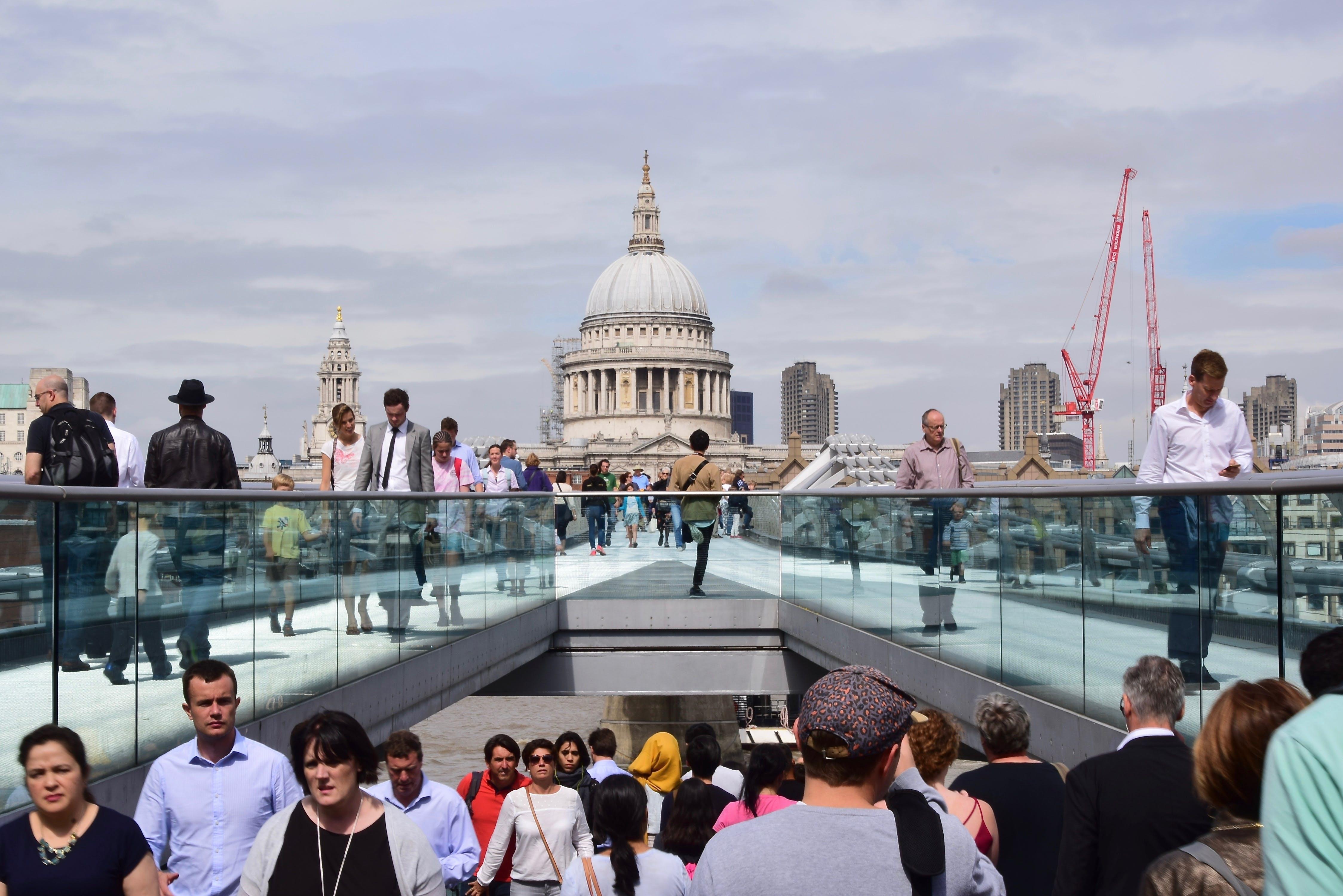 Free stock photo of city, people, walking, buildings