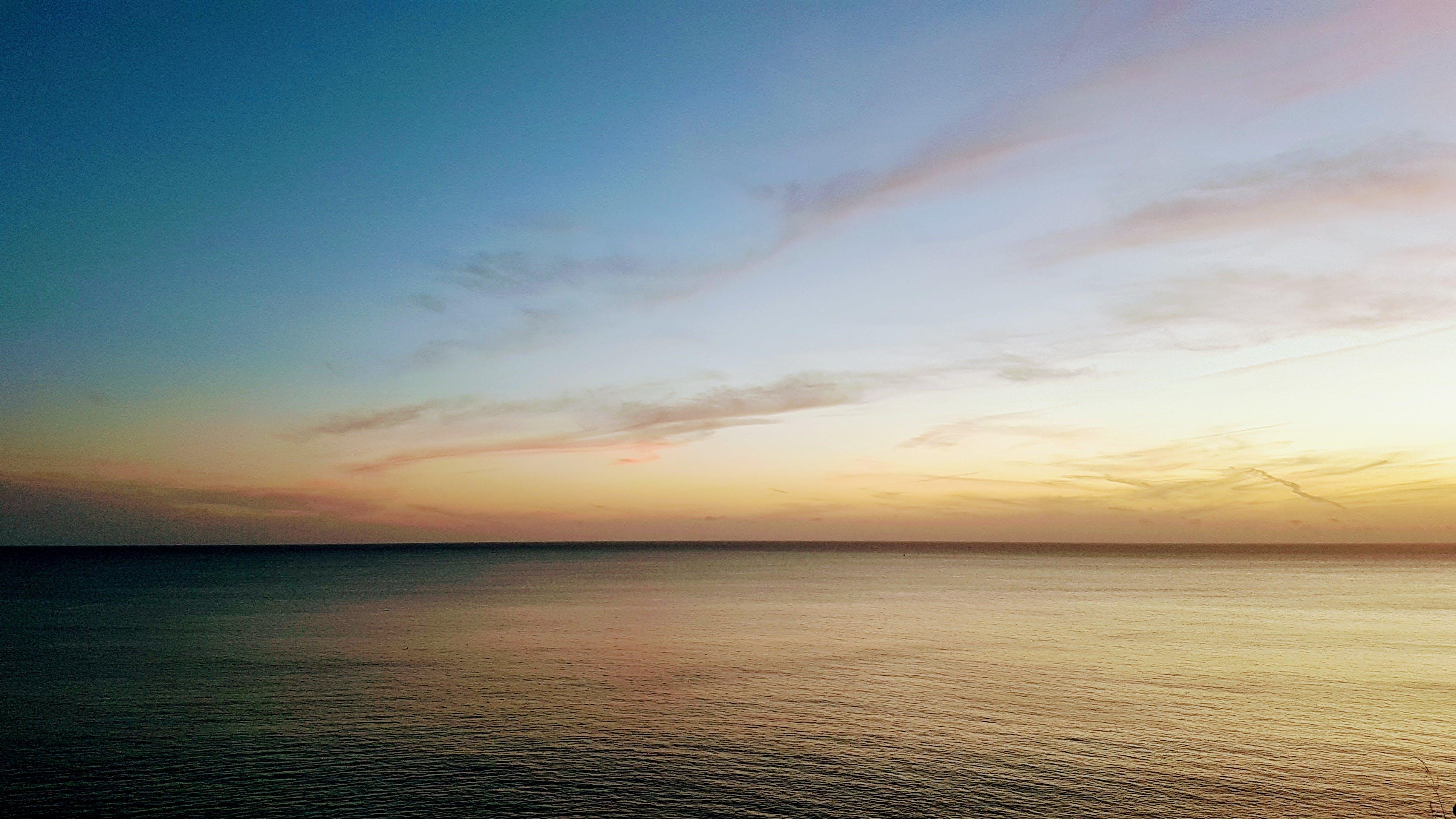 Základová fotografie zdarma na téma horizont, klid, moře, mraky