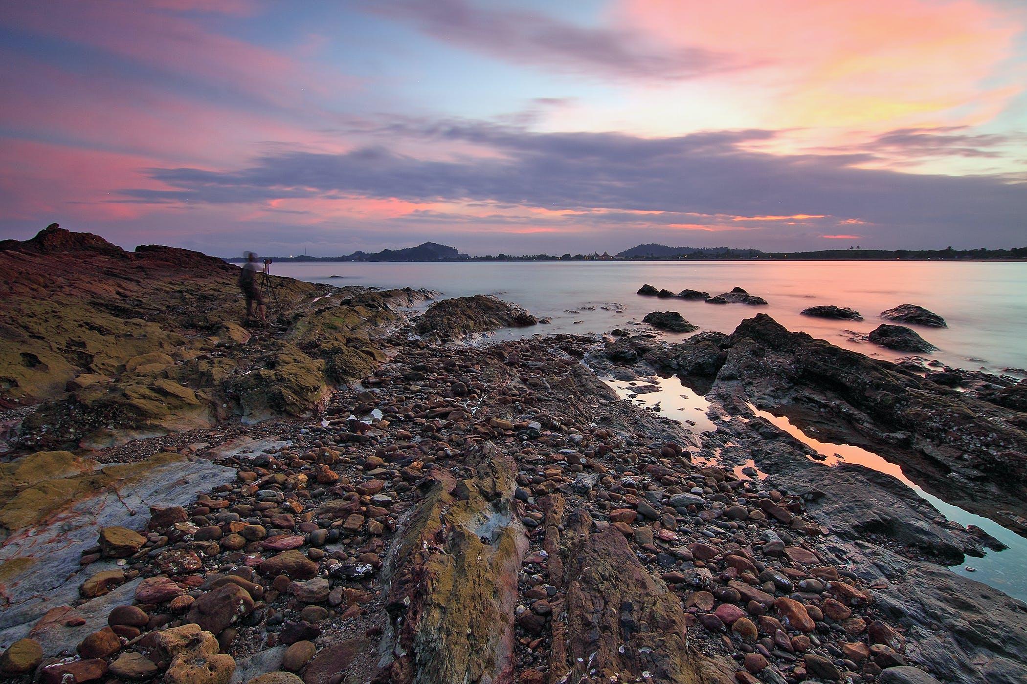 Základová fotografie zdarma na téma kameny, krajina, mávání, mech