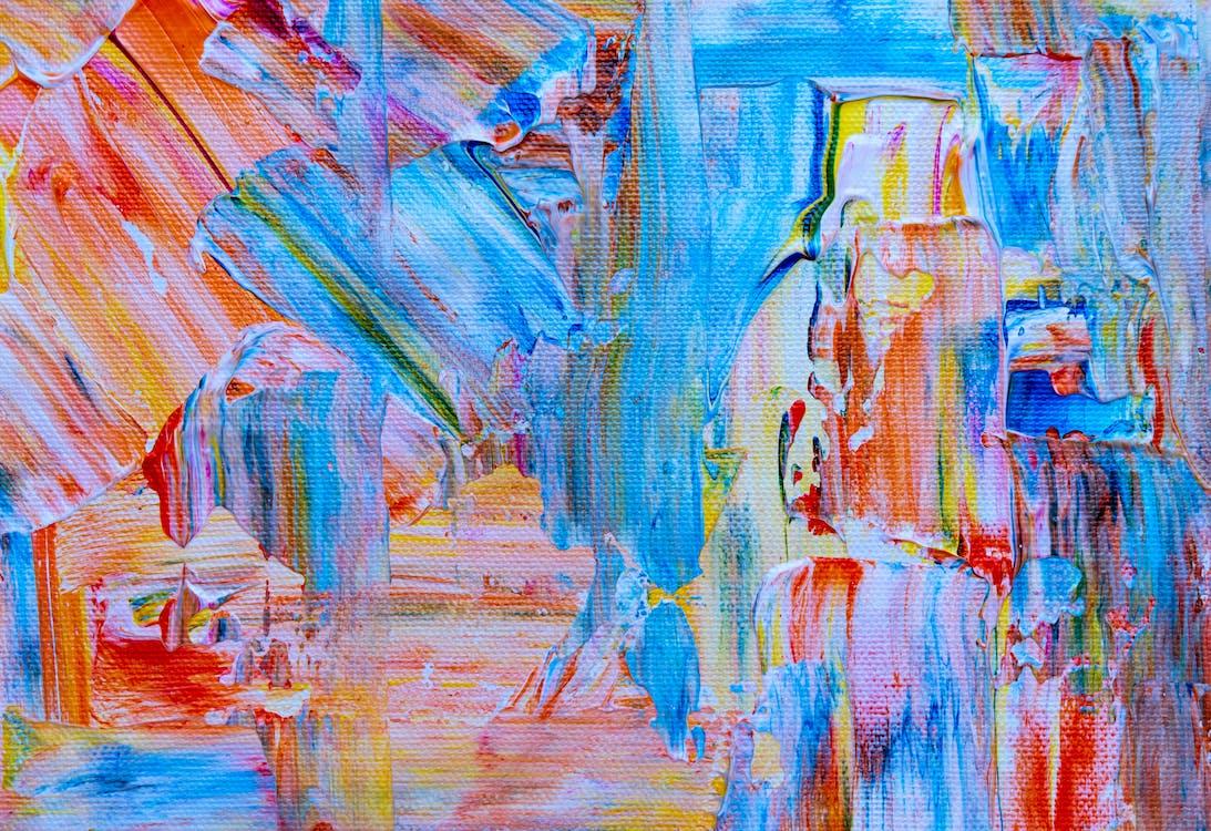 acrylic, bột màu, bức họa