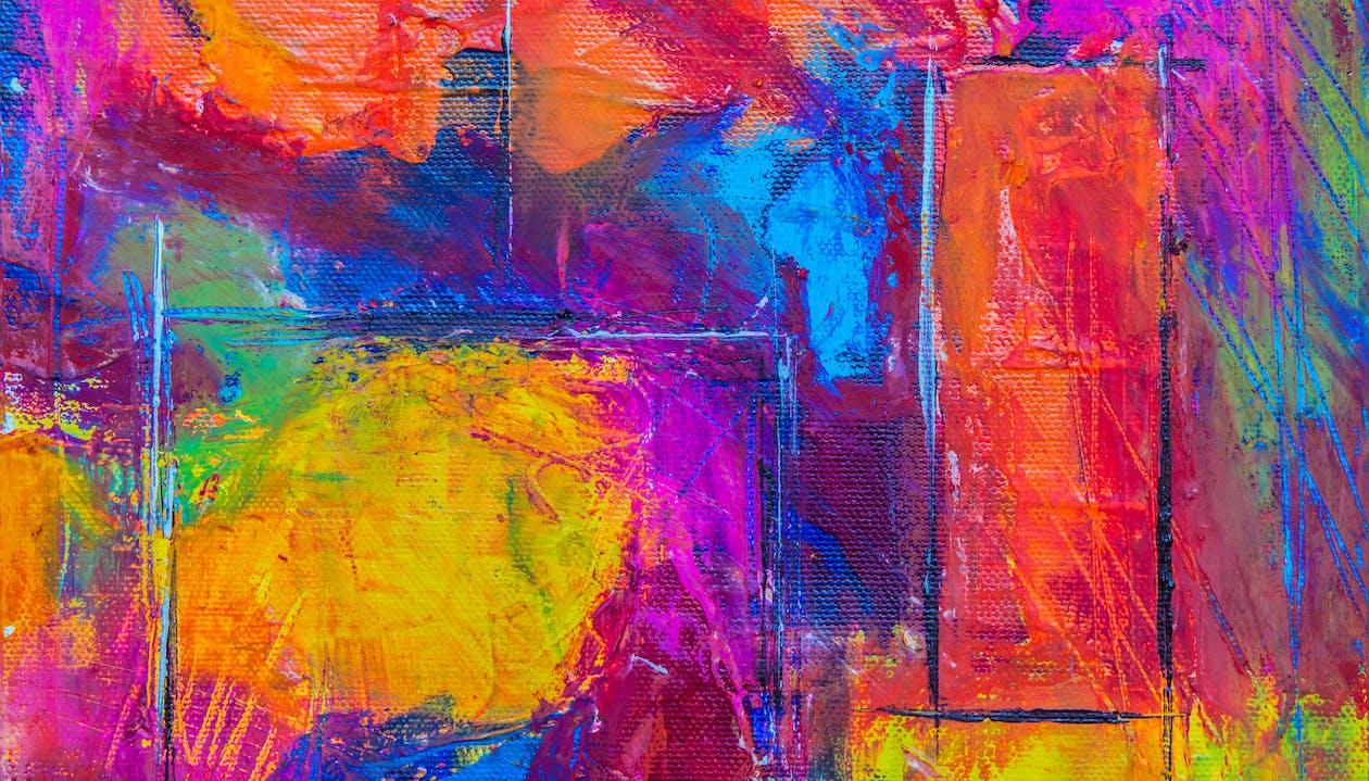 abstrakti ekspressionismi, abstrakti maalaus, akryylimaali