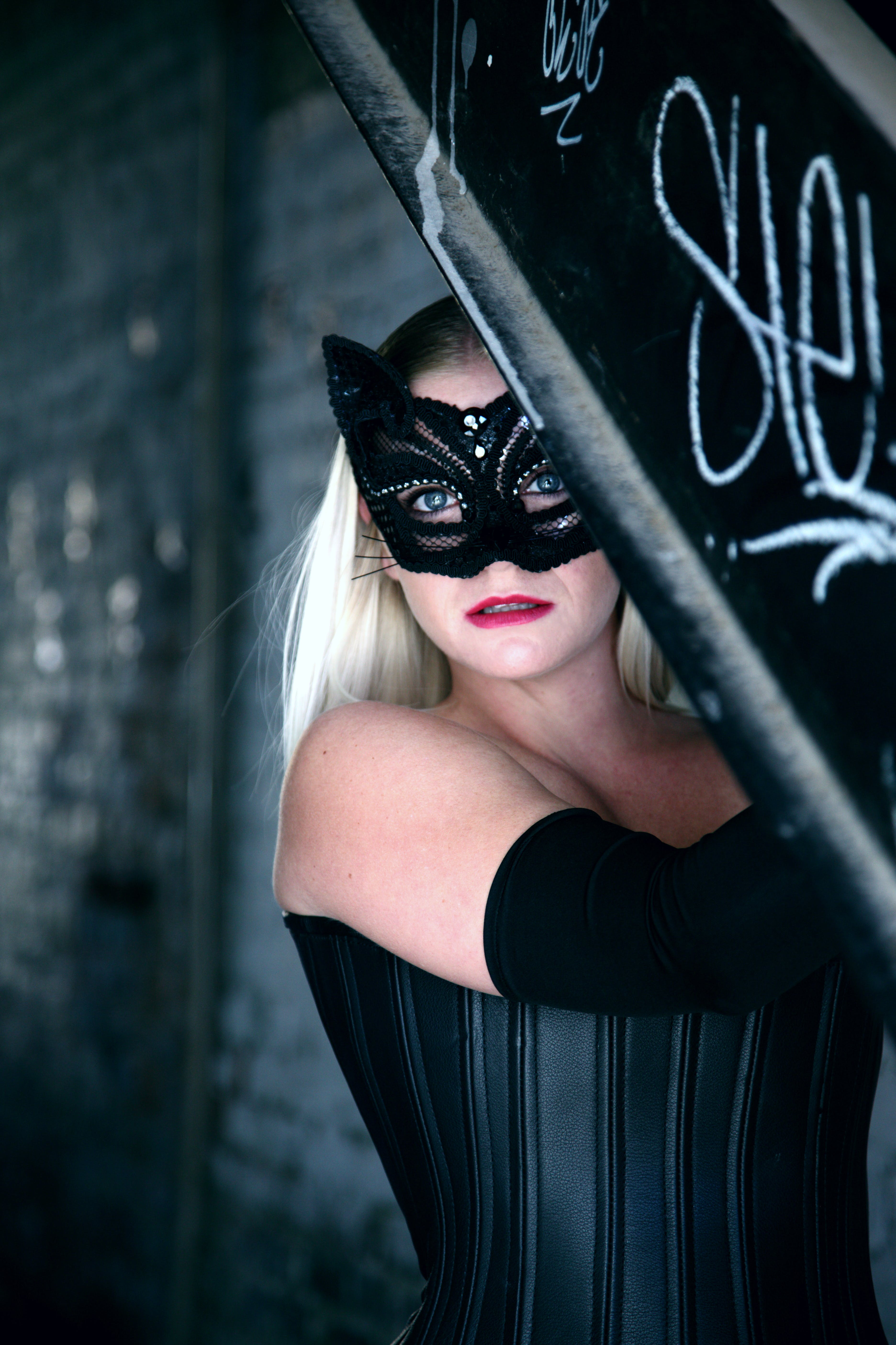 Woman Wearing Catwoman Costume