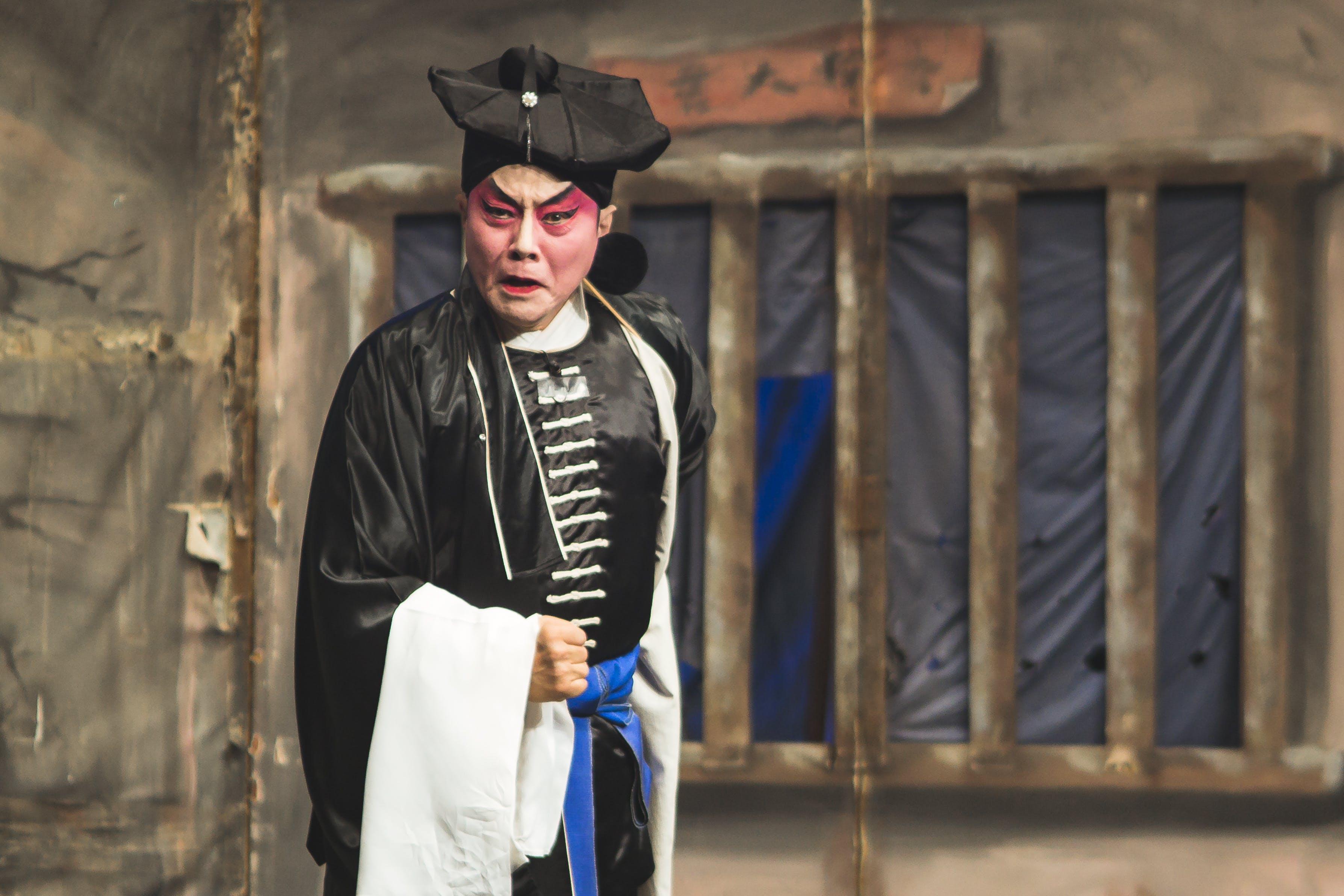 Kostenloses Stock Foto zu aufführung, betrübt, chinesisch, chinesische oper