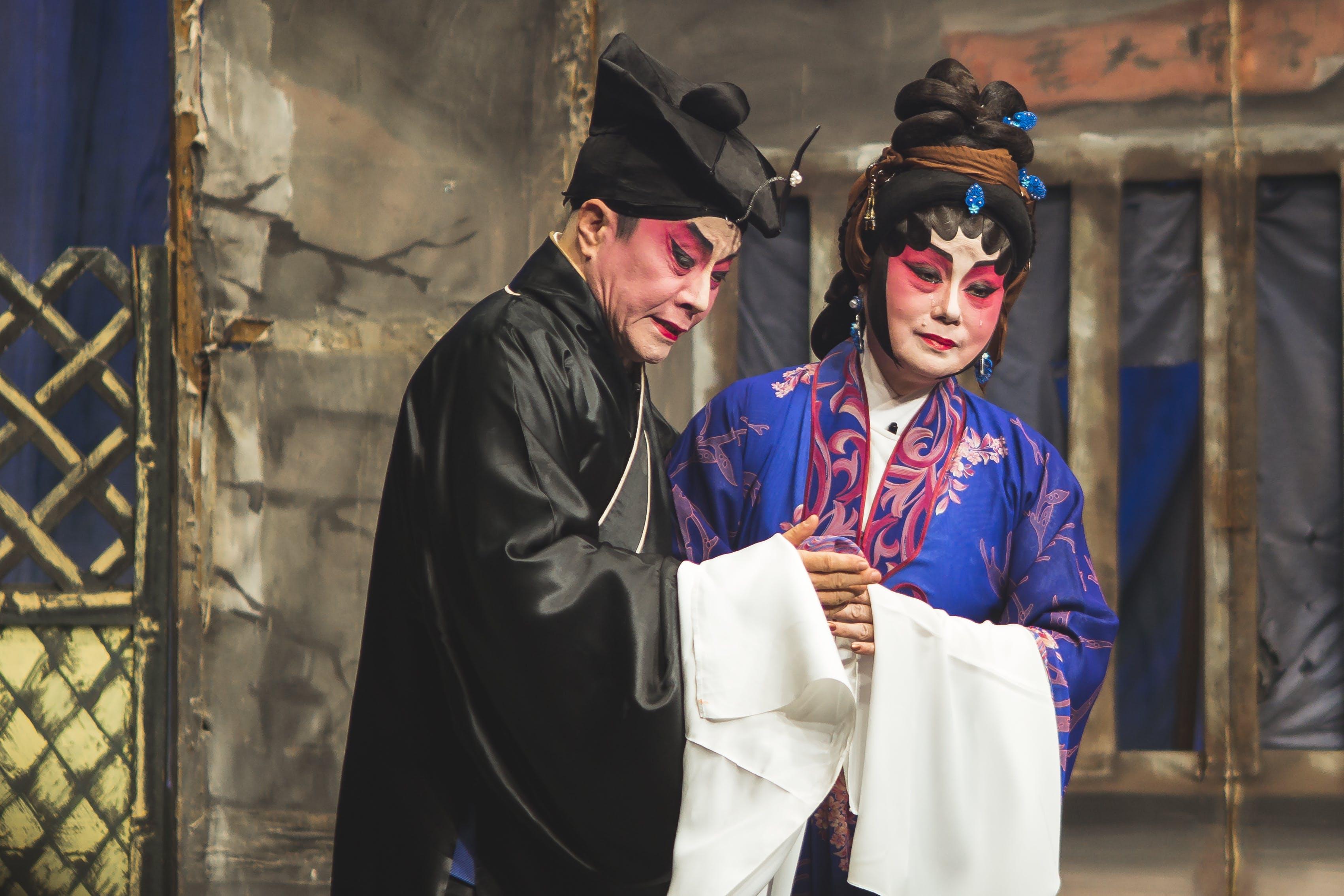 Kostenloses Stock Foto zu aufführung, chinesisch, chinesische oper, kunst