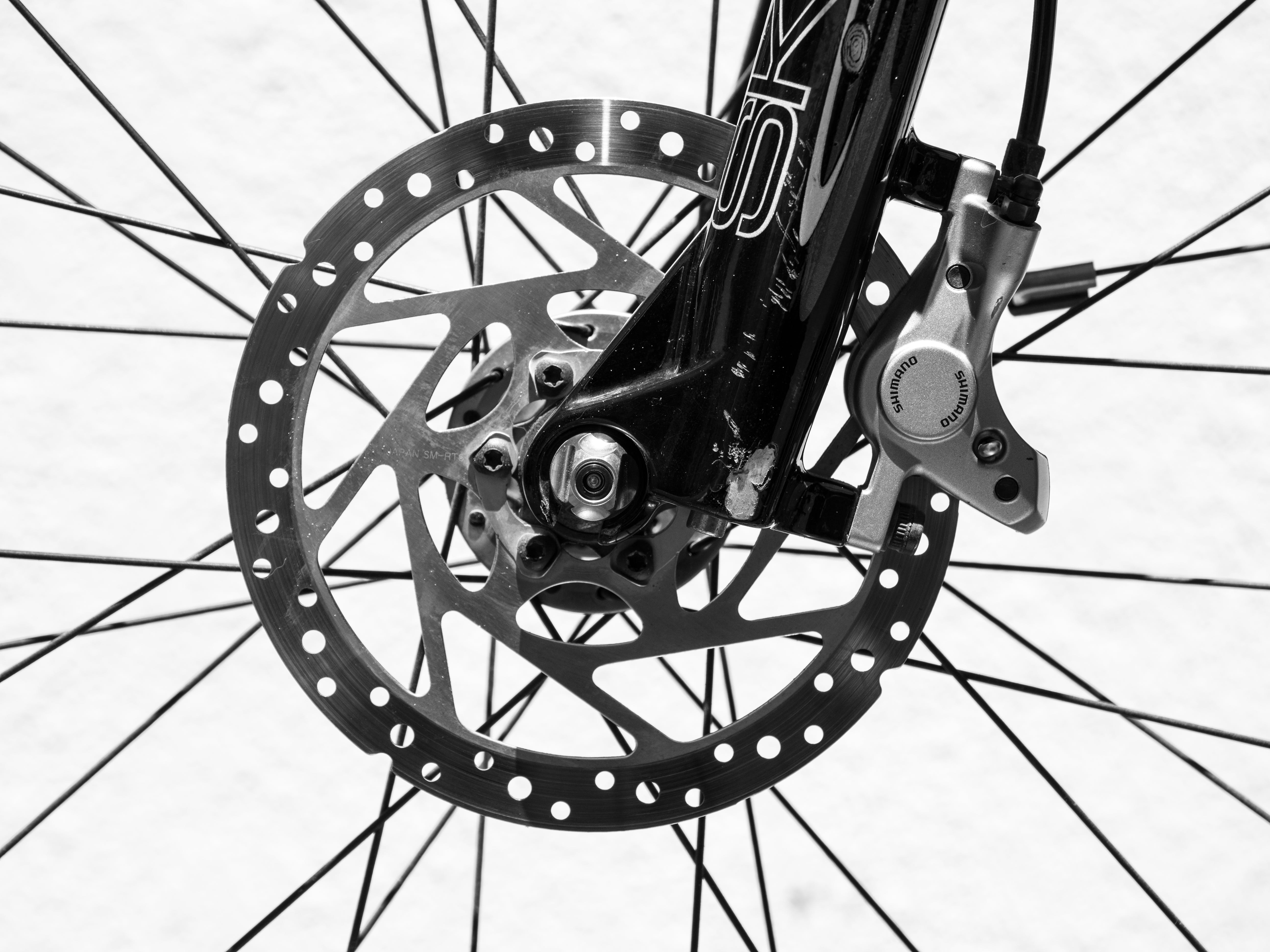 Black And White Photo Of Bicycle Spokes
