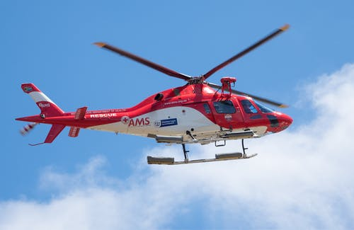 Photo Of Ams Helicopter In Flight