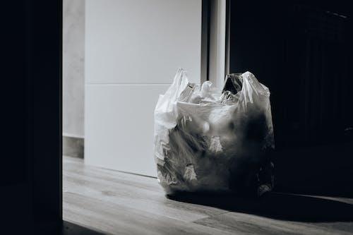 Imagine de stoc gratuită din alb-negru, gunoi, punga de plastic