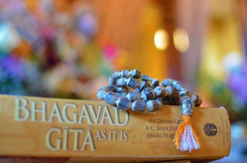 Free stock photo of bhagavad gita, mala beads, tulasi mala beads