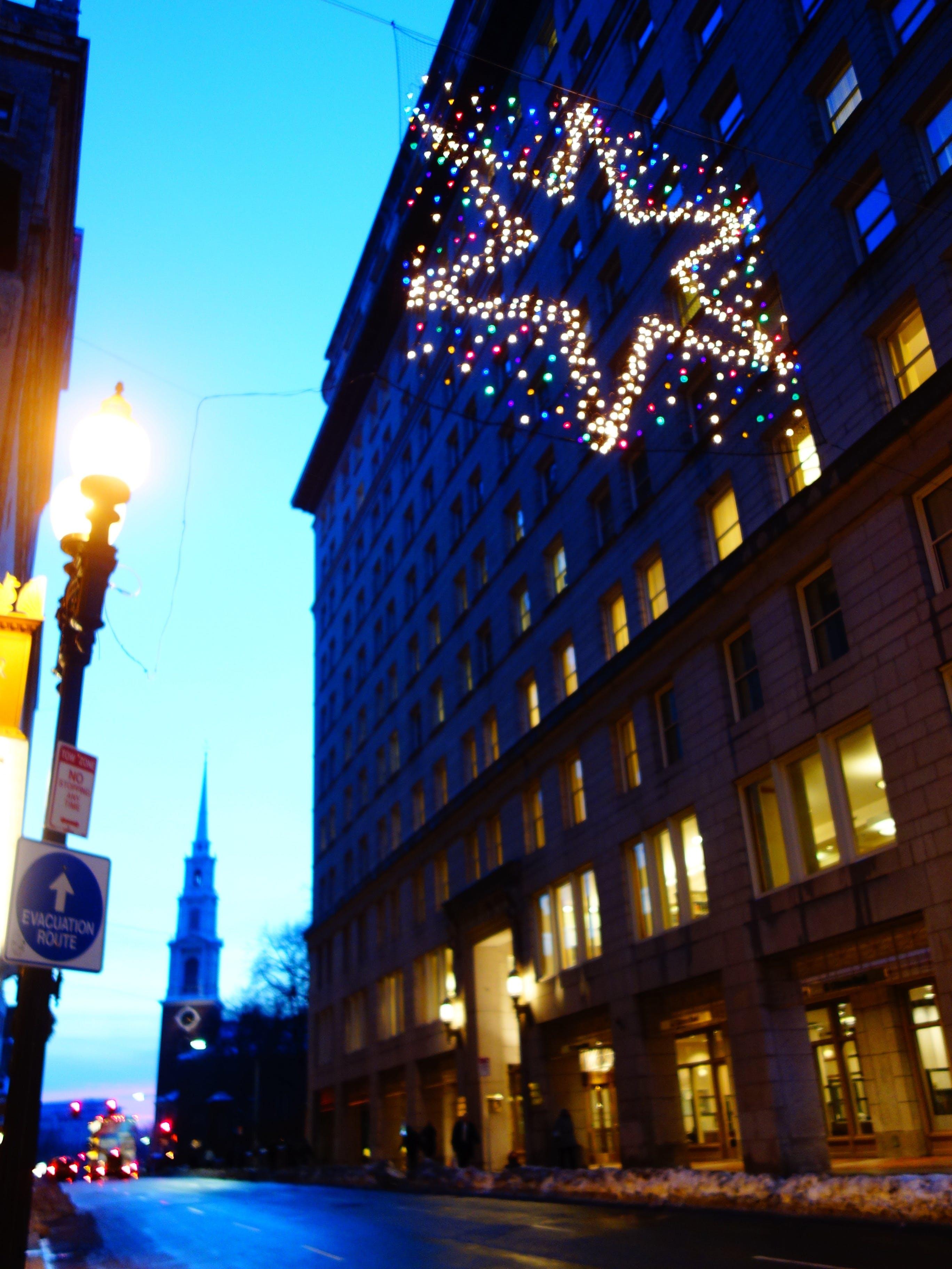 Kostenloses Stock Foto zu boston, straße, weihnachten