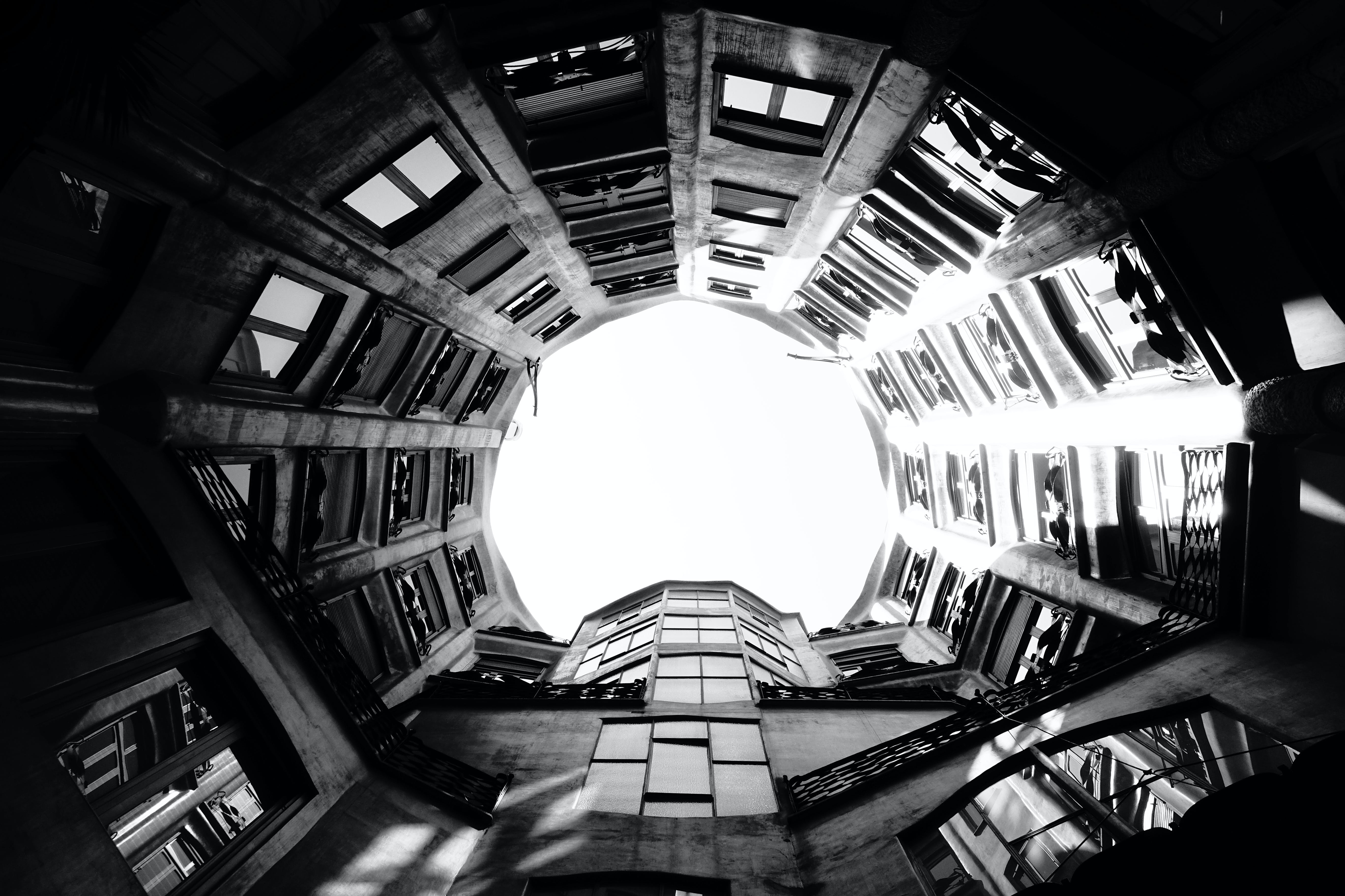 Free stock photo of architecture, barcelona, black and white, spain