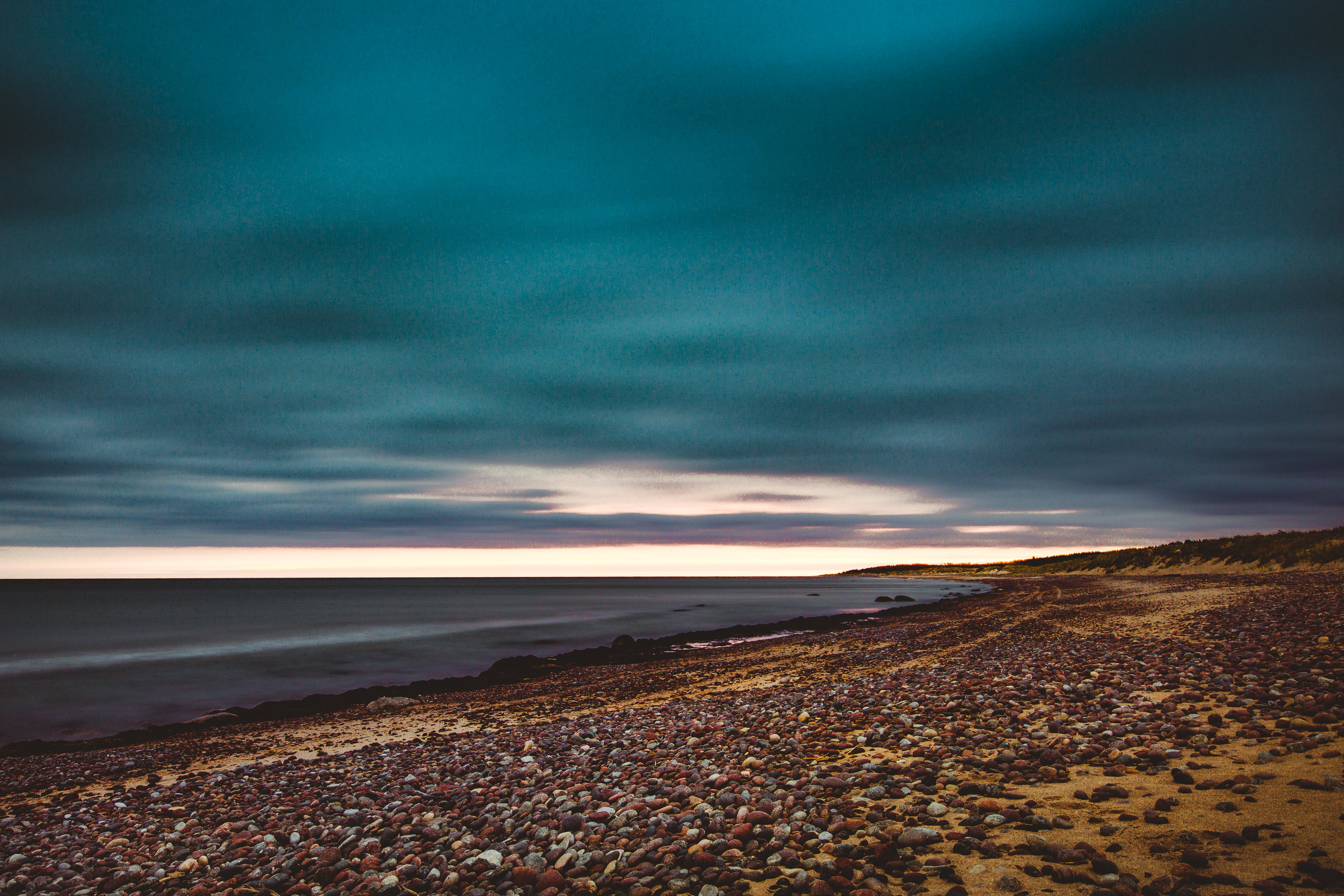 Free stock photo of Baltic Sea, blue water, calm waters, cloudy sky