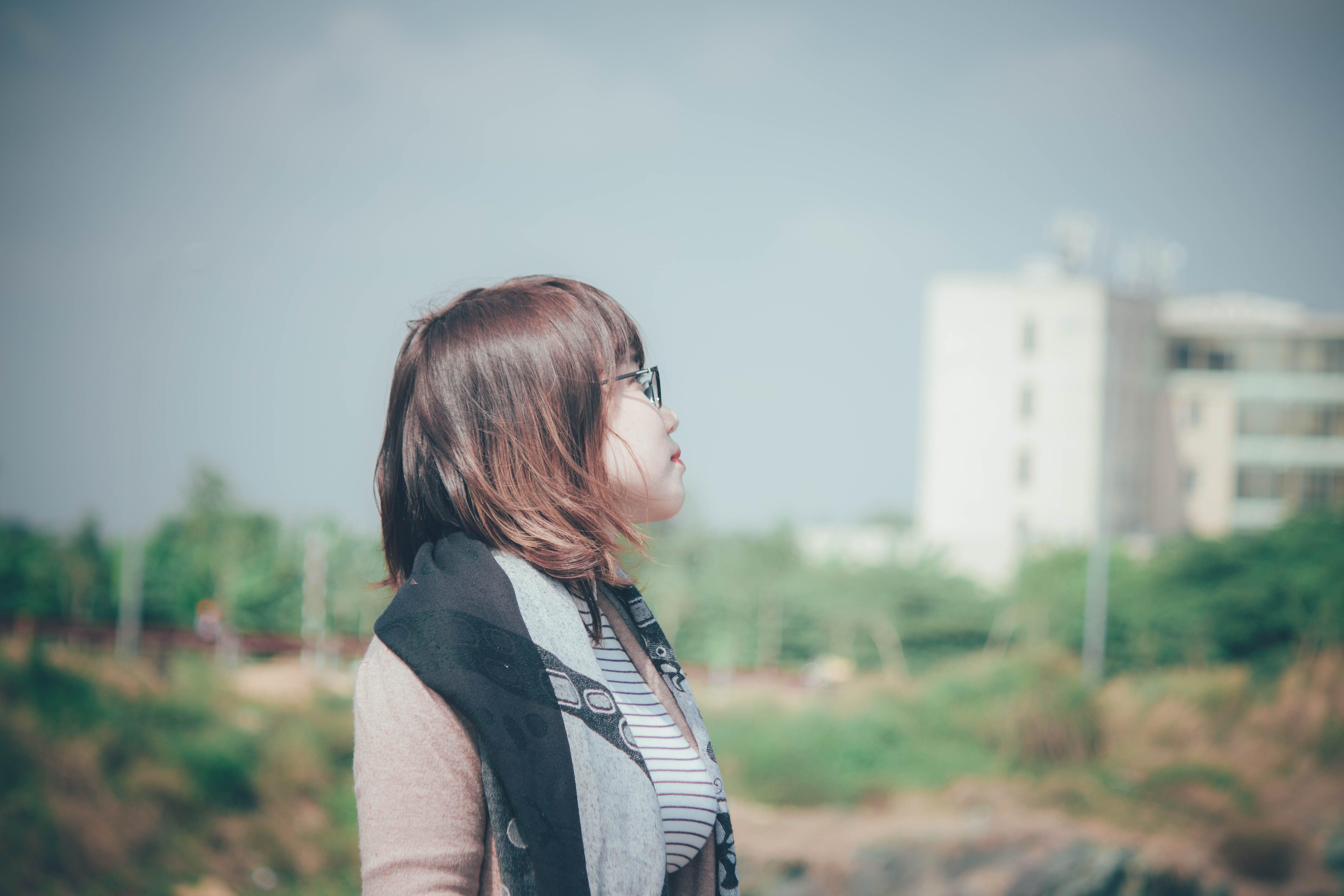 Free stock photo of asian girl, morning sun
