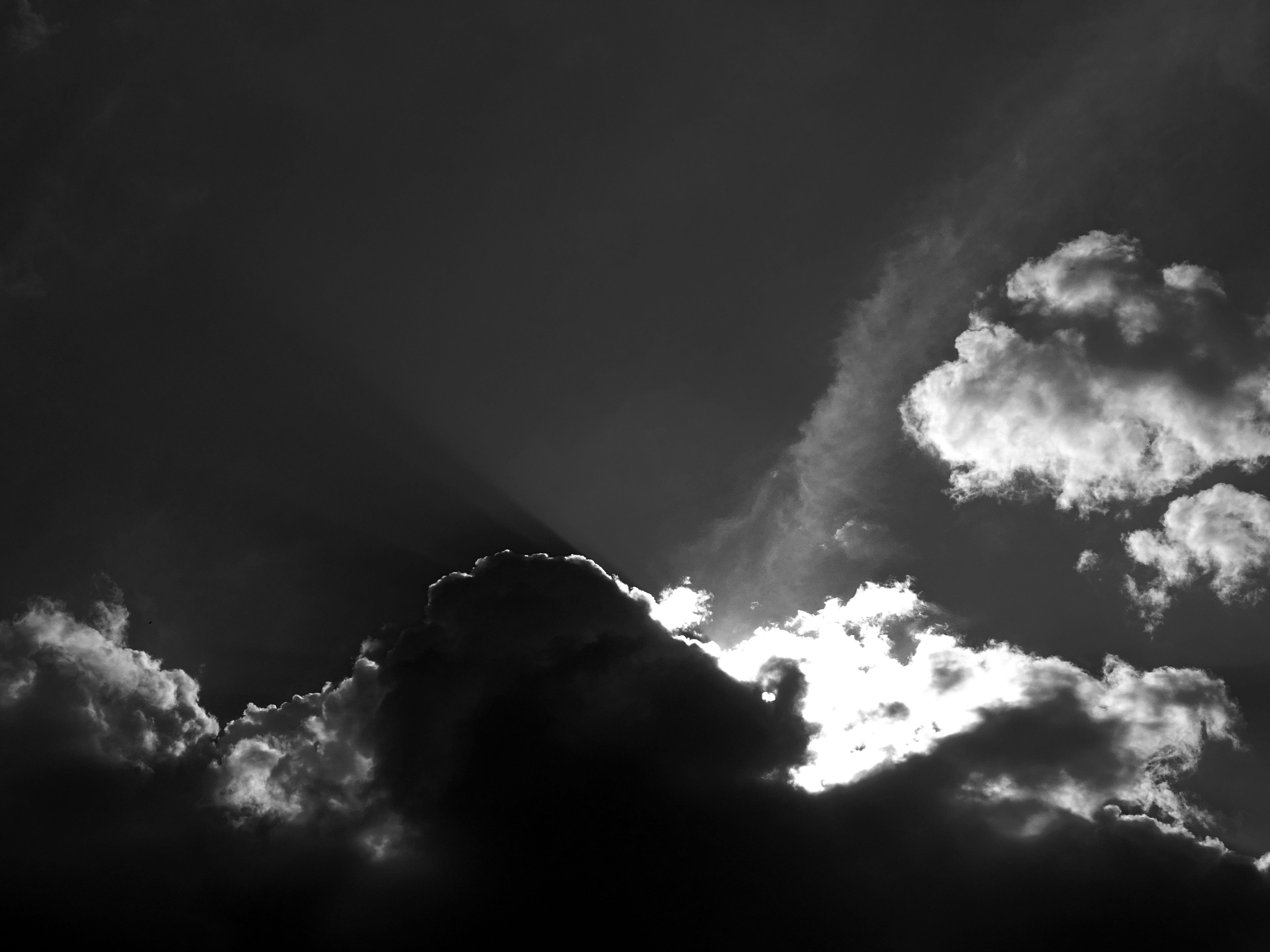 Black and White Image of Clouds