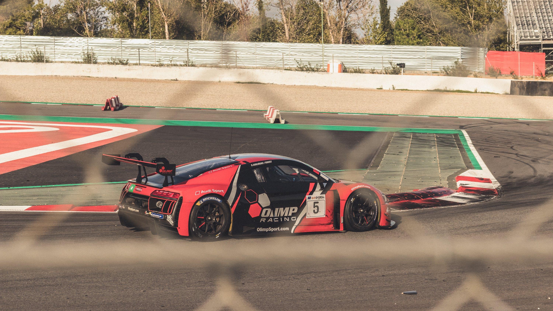 Race Car On Course