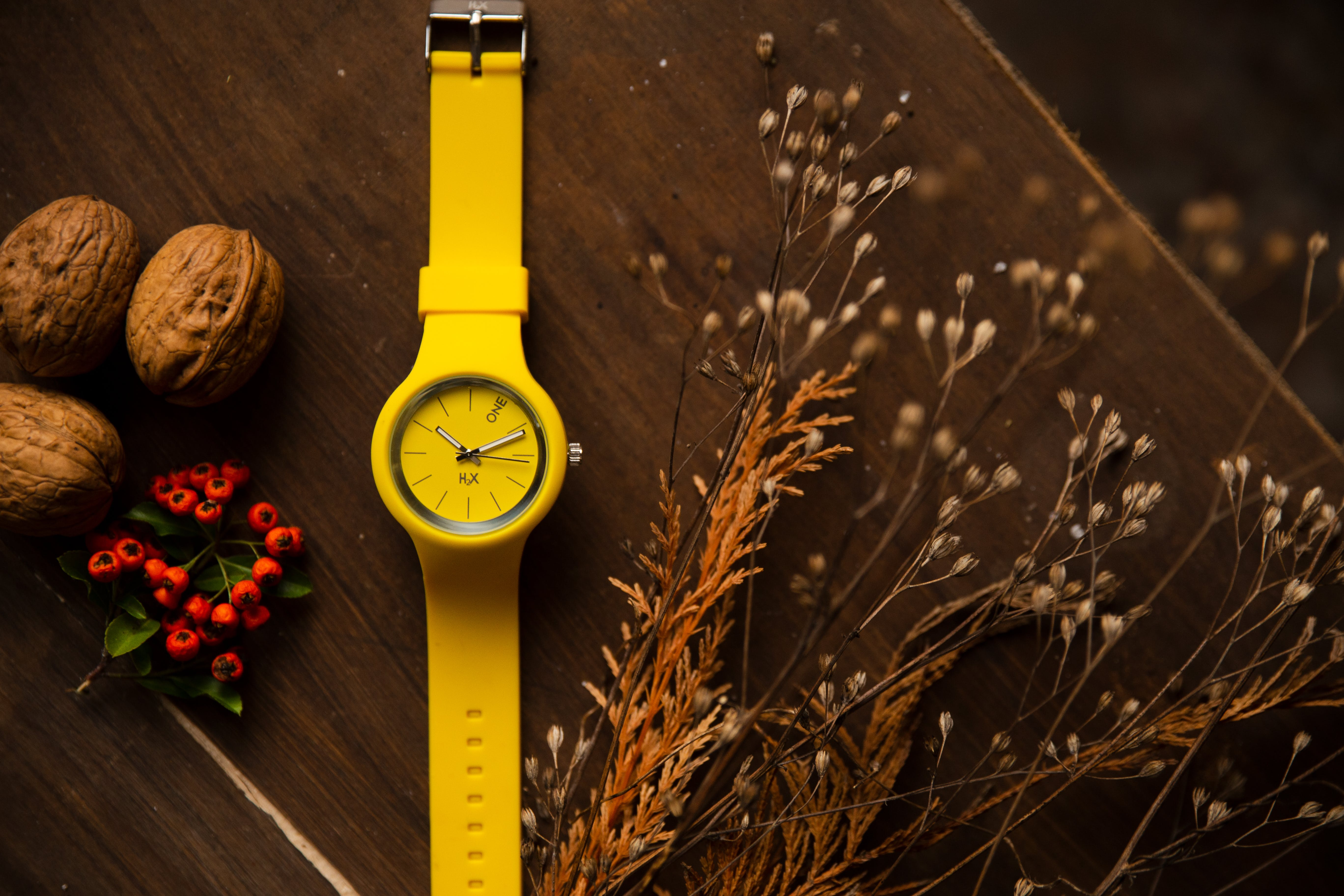 Yellow Watch on Tabletop