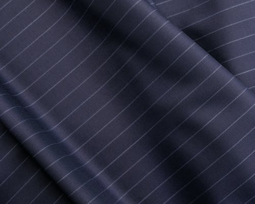 Elegant blue fabric with classic striped pattern