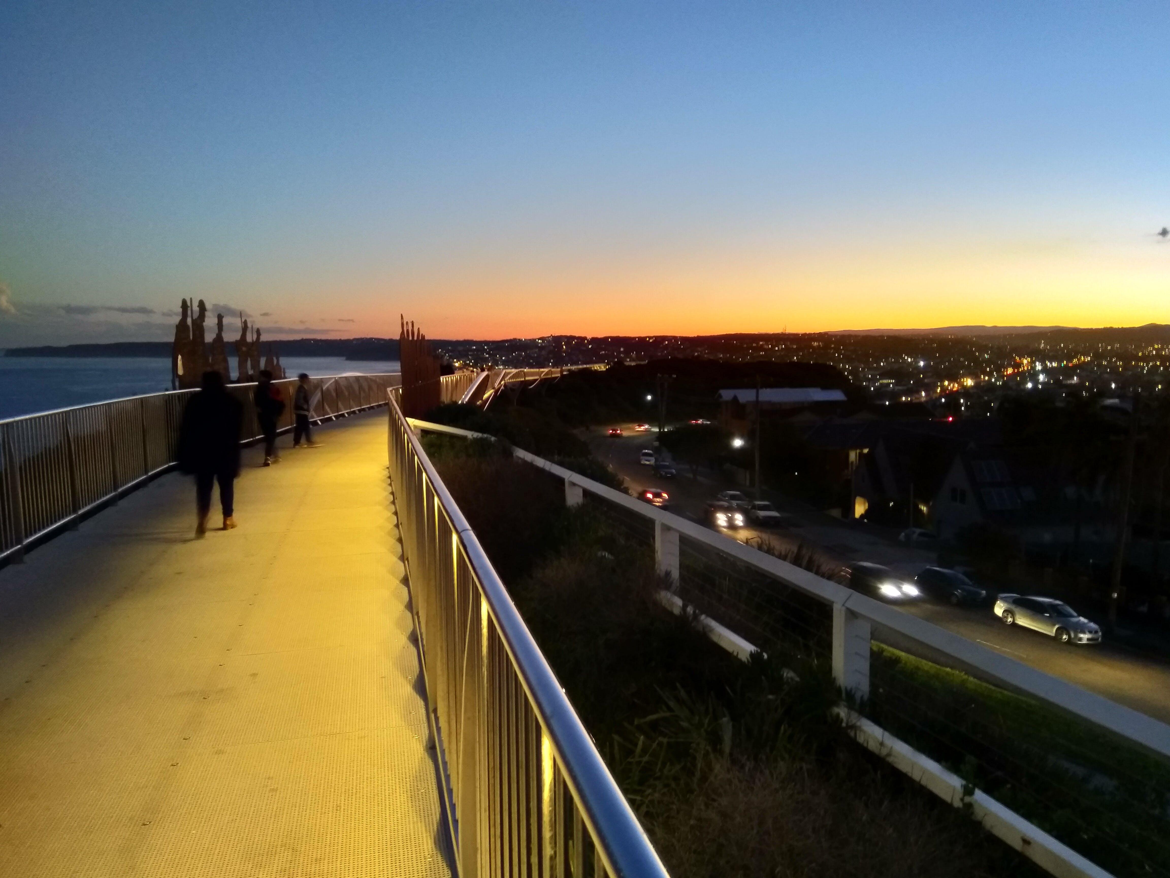 Free stock photo of Anzac Walk, city by night, Newcastle NSW by Night, sunset