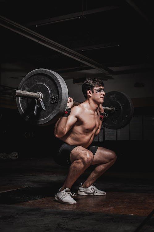 atlet, bar overkrop, biceps
