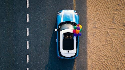Fotobanka sbezplatnými fotkami na tému balóny, cesta, denné svetlo, DJI