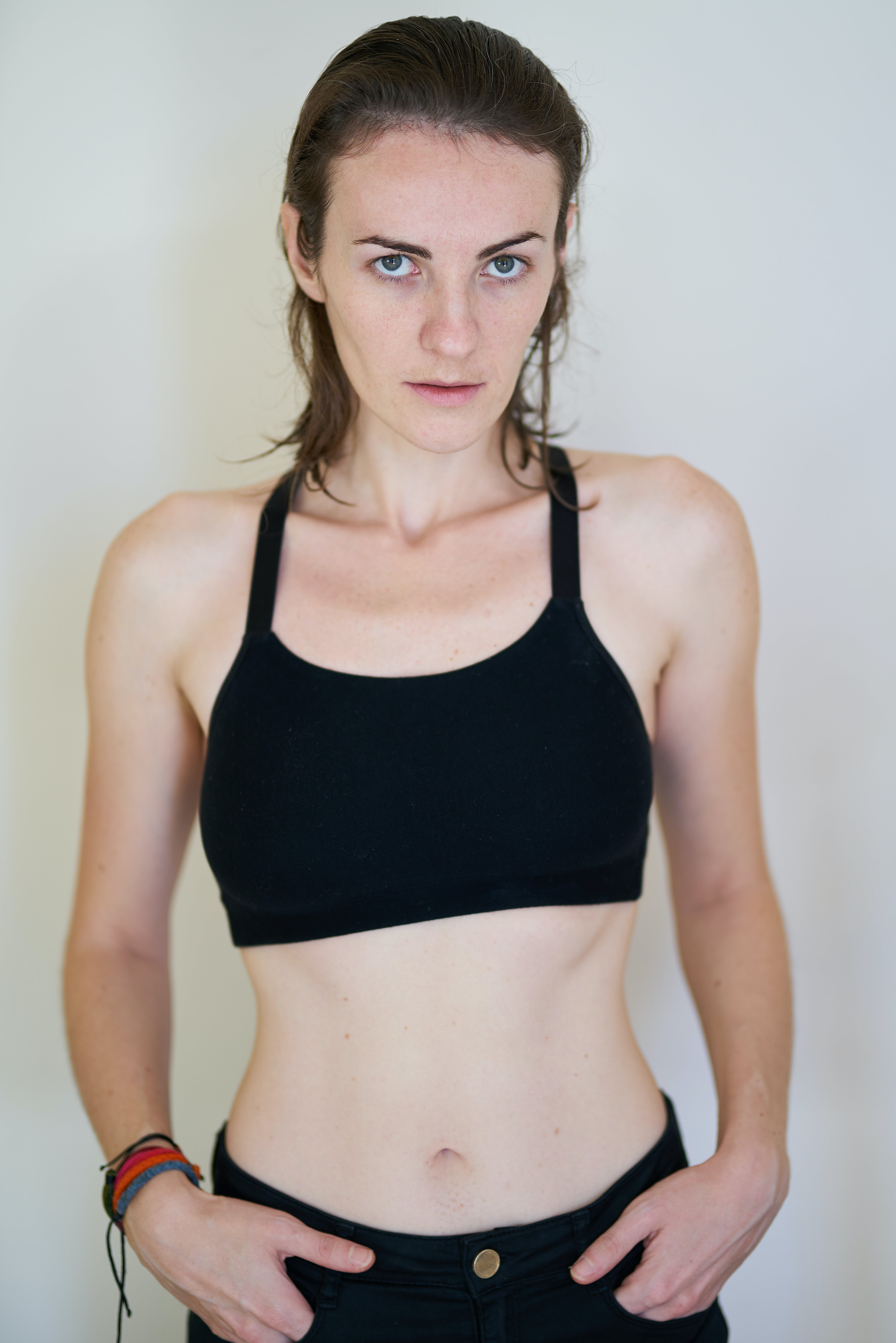 Woman in Black Sports Bra