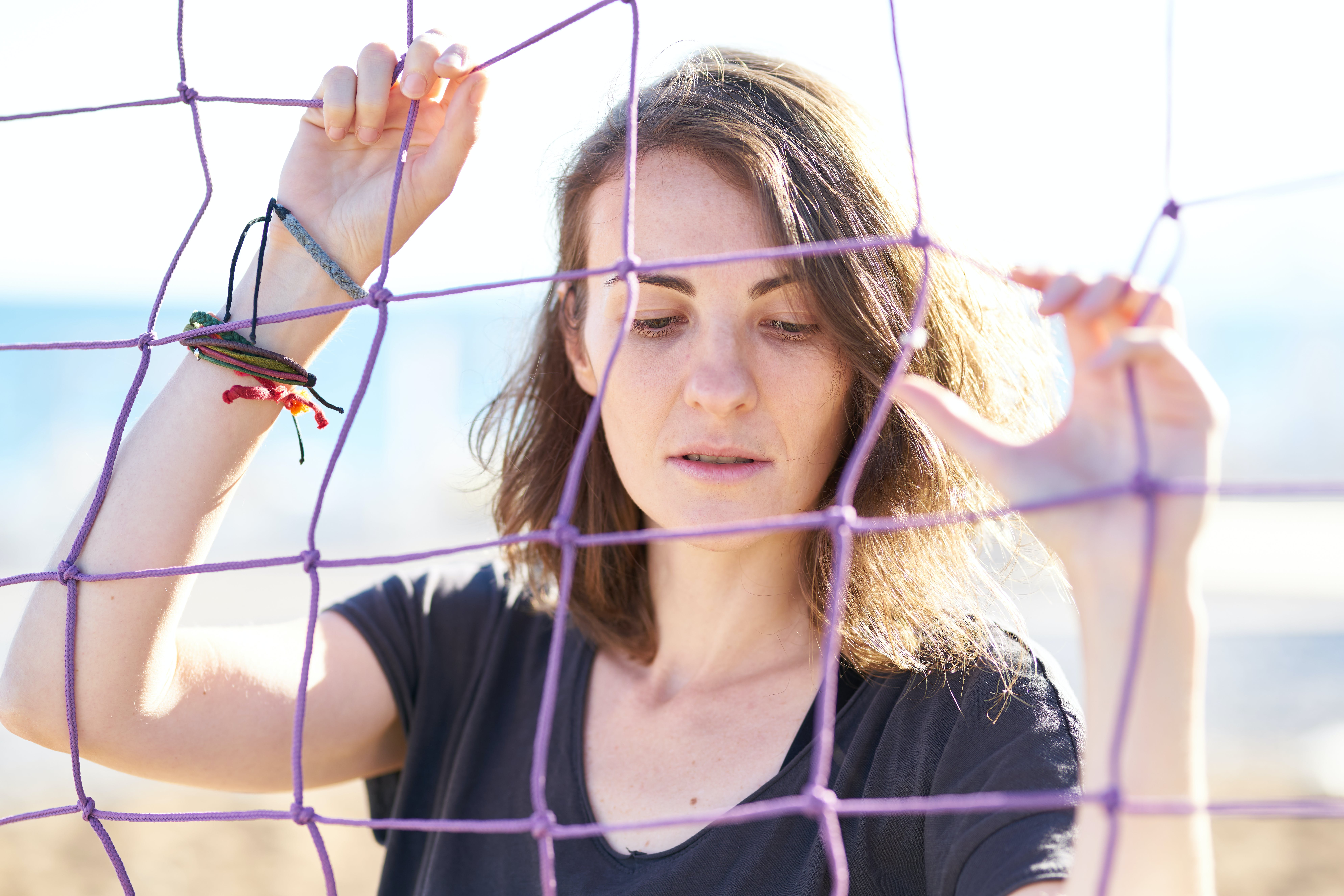 Photo Of Woman Holding Net