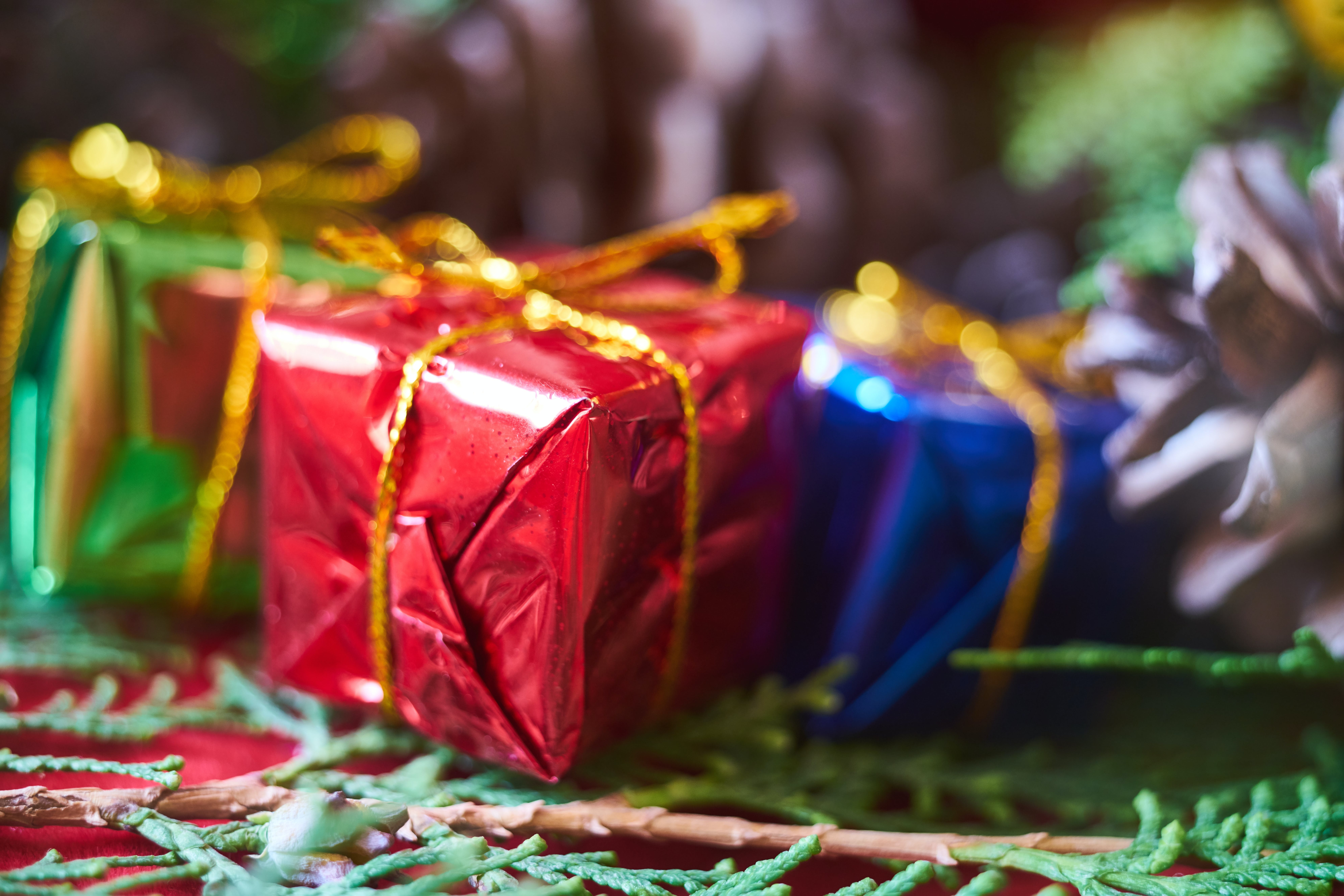 Foto stok gratis hadiah, hari Natal, liburan, makro