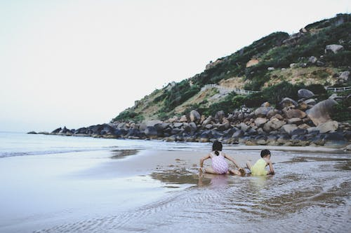 Free stock photo of babies, beach, by the sea