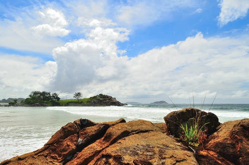 Gratis lagerfoto af bølge, græs, hav, havudsigt