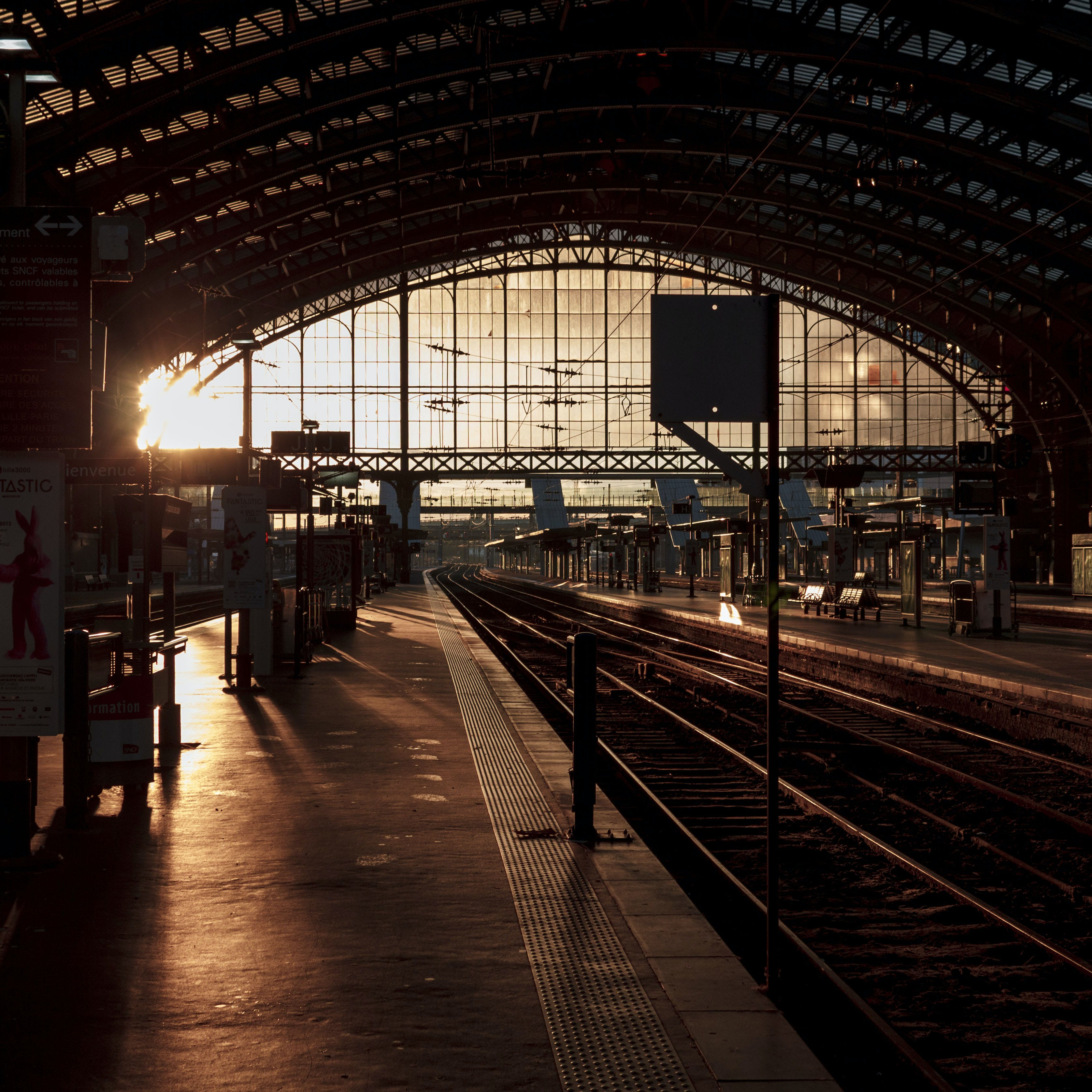 Free stock photo of europe, france, gare, light