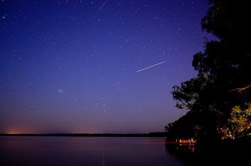 Foto stok gratis air, artis, gelap, langit