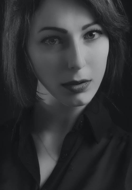 セクシー, ヘア, モデル, モノクロの無料の写真素材