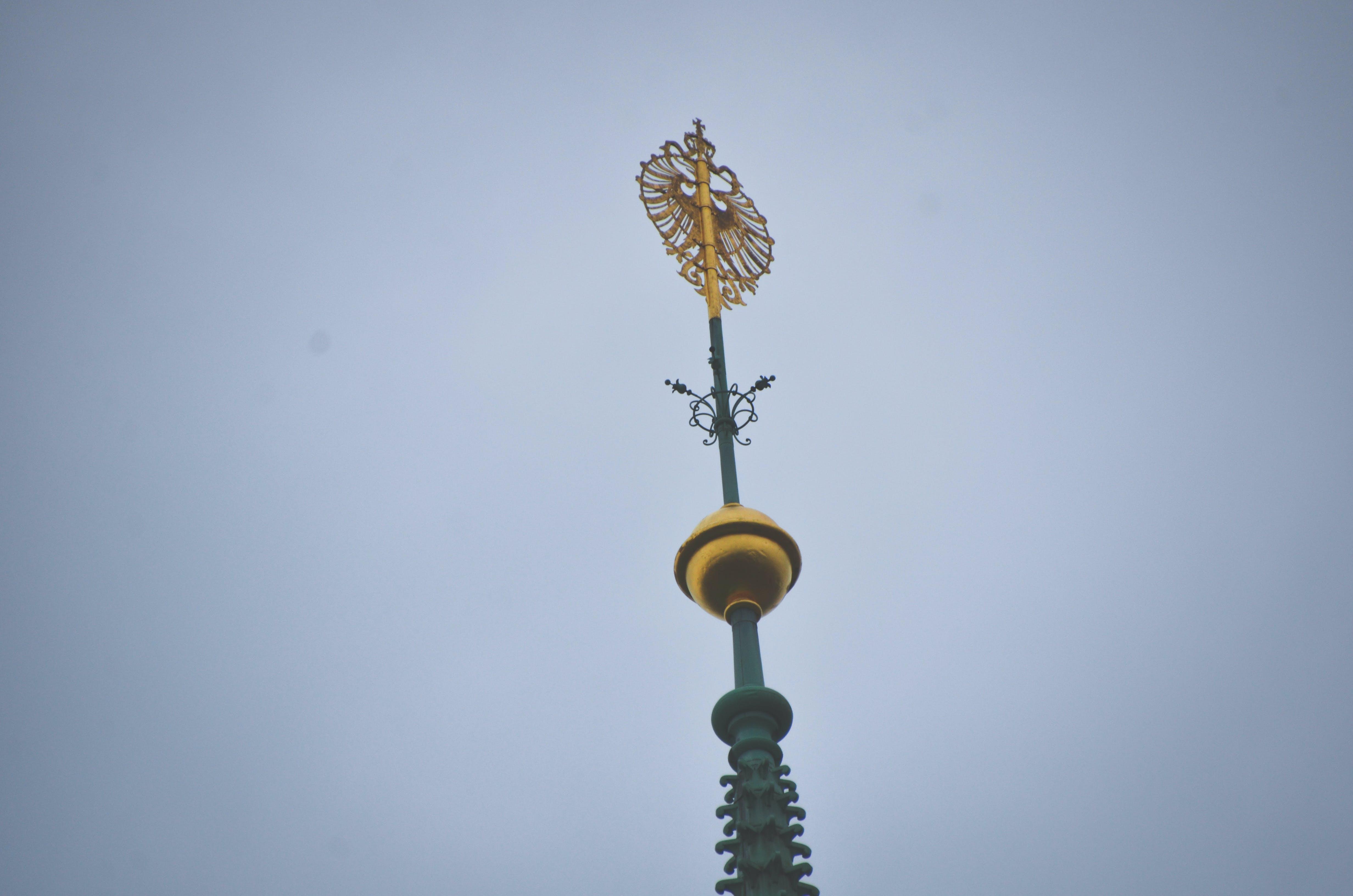 Kostenloses Stock Foto zu church, church tower, gold