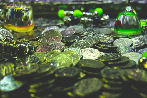 Free stock photo of 10p, arcade, close up, coins