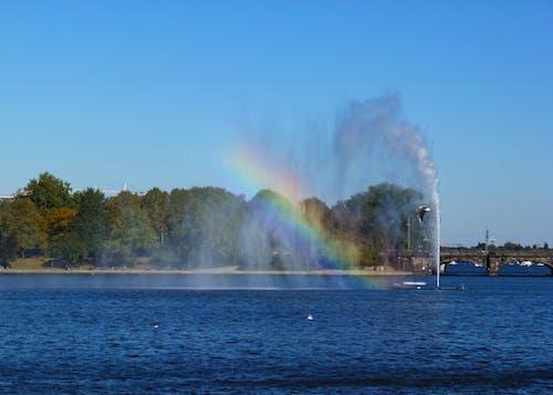 噴泉, 城市公園, 彩虹, 彩虹橋 的 免费素材照片