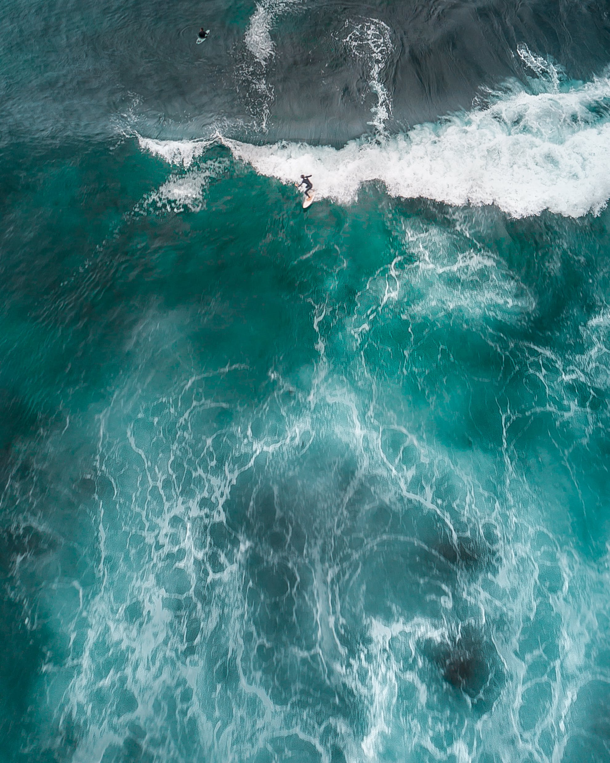 Top View Photo of Person Surfing