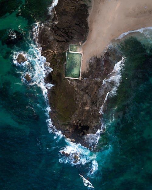 Gratis arkivbilde med bølger, dagslys, fugleperspektiv, hav