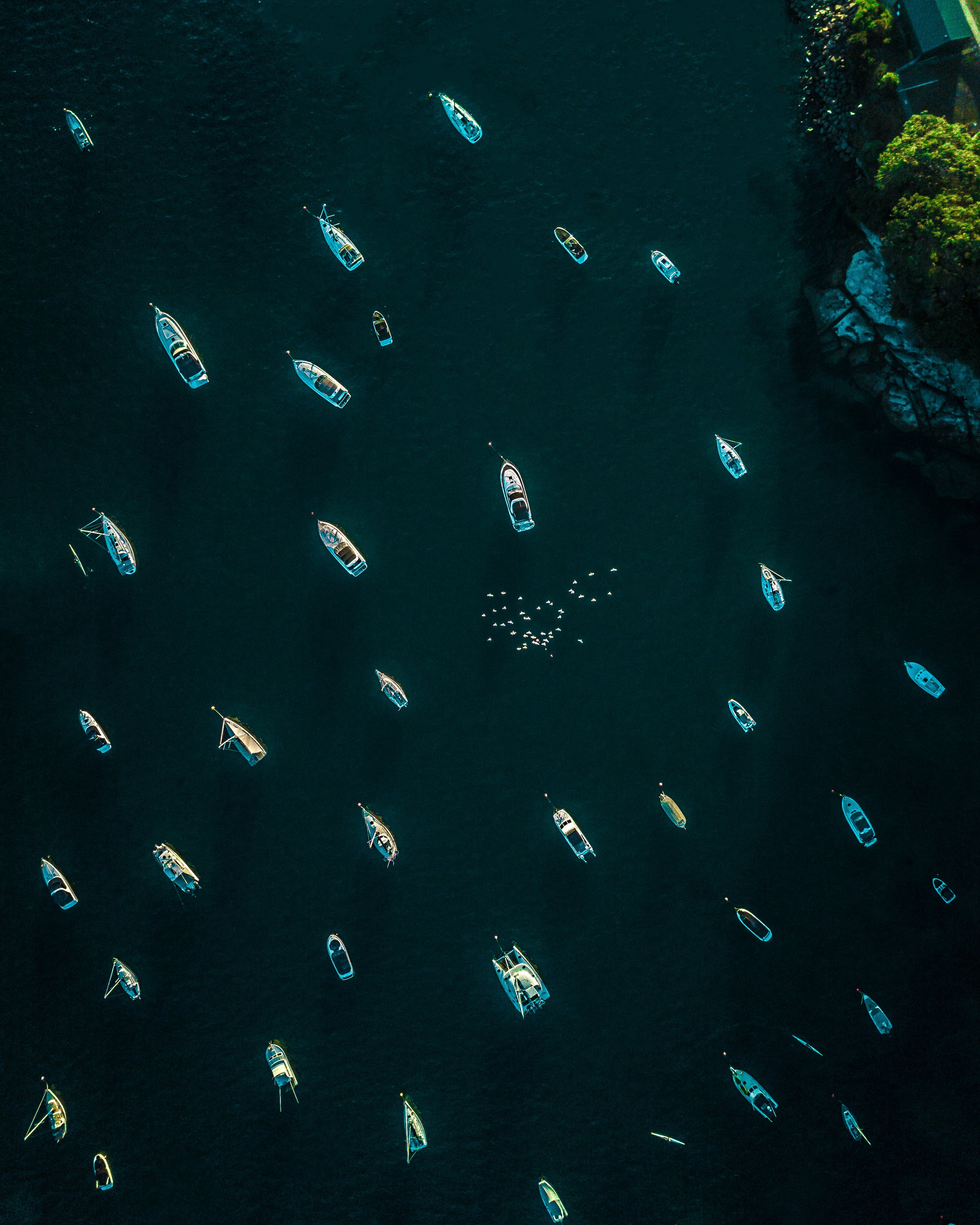 Top View Photo of Boats On Ocean