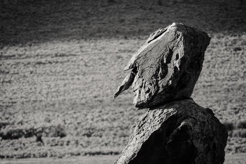 Rock Grascale Photography