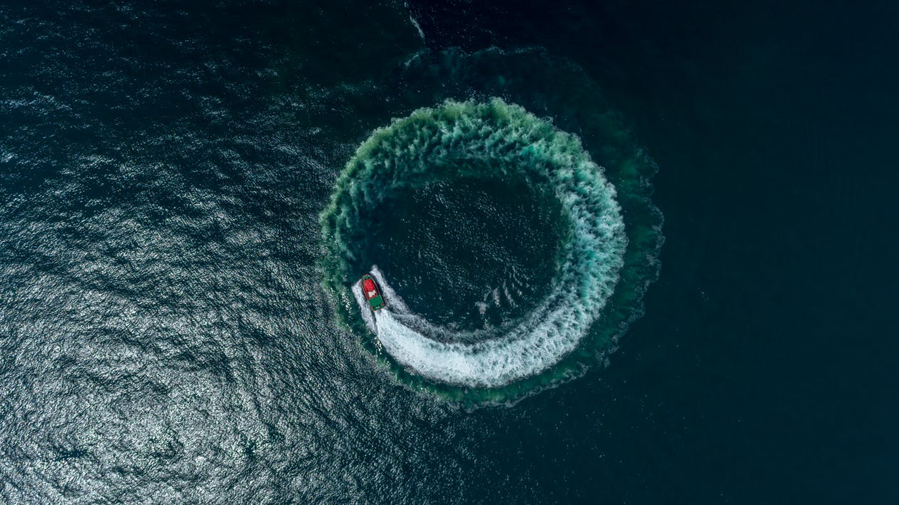 Boat In Body Of Water Aerial Photography