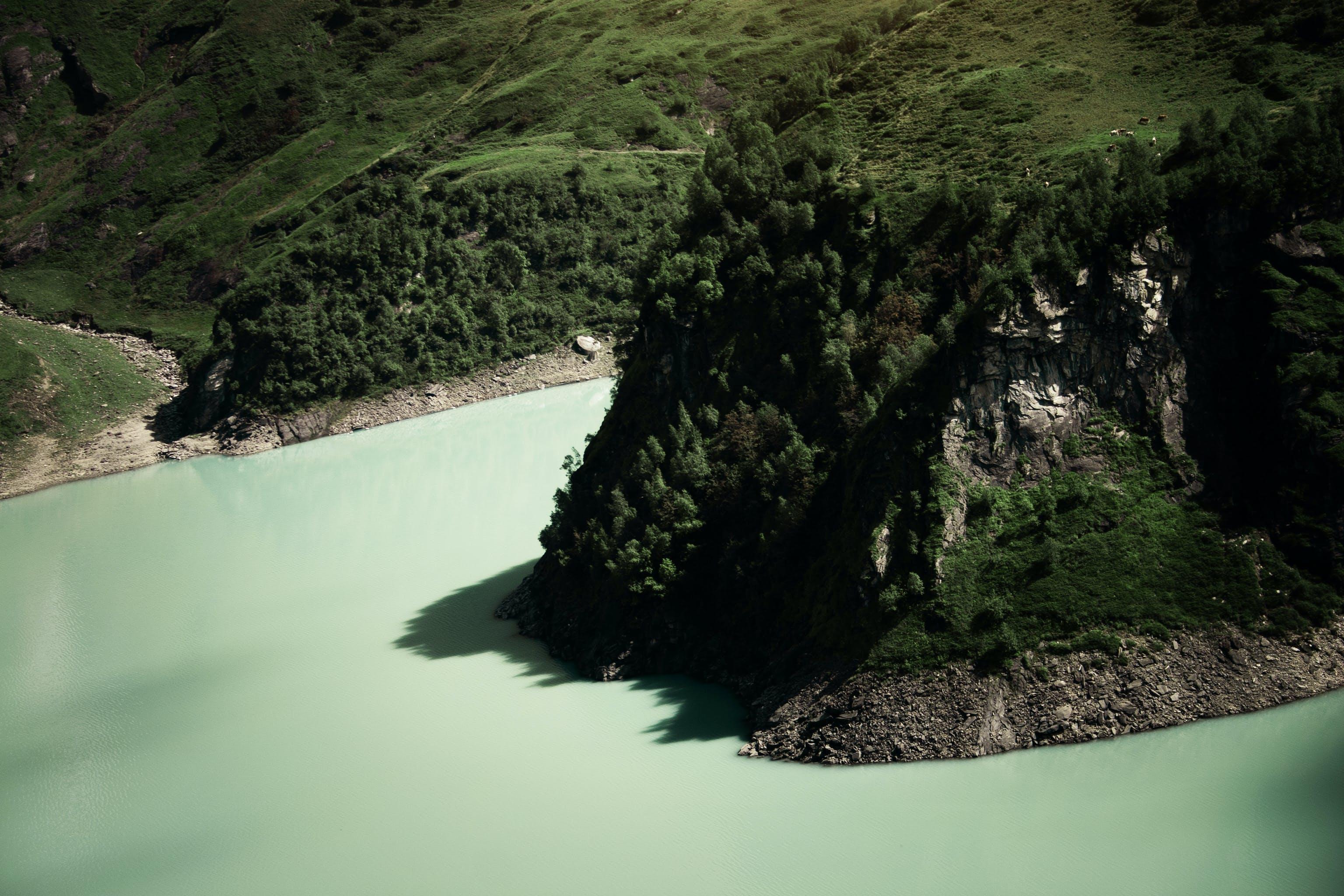 Gratis arkivbilde med dagslys, fjell, grønn, halvøy