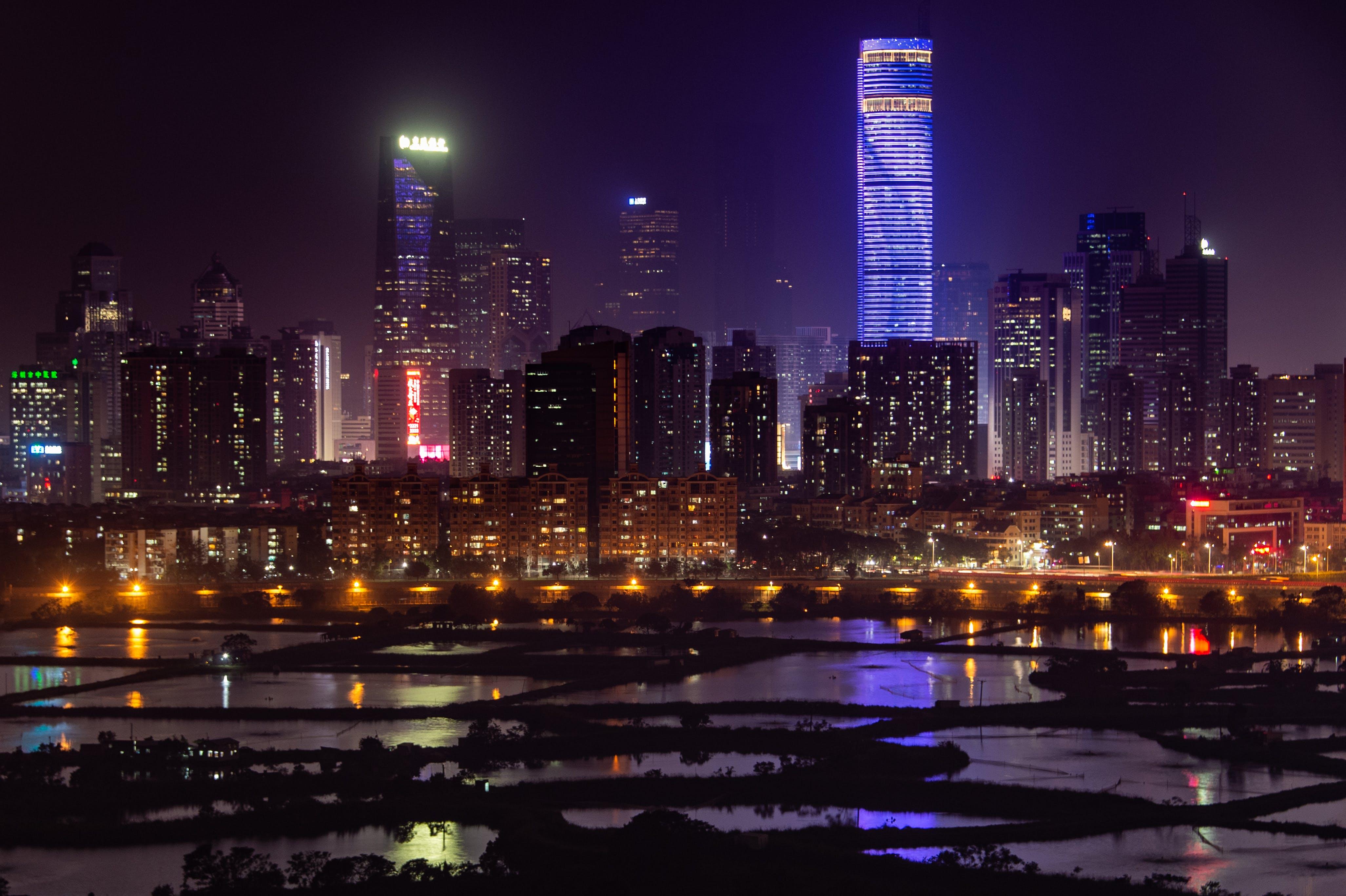 Free stock photo of city, long exposure, nightscape