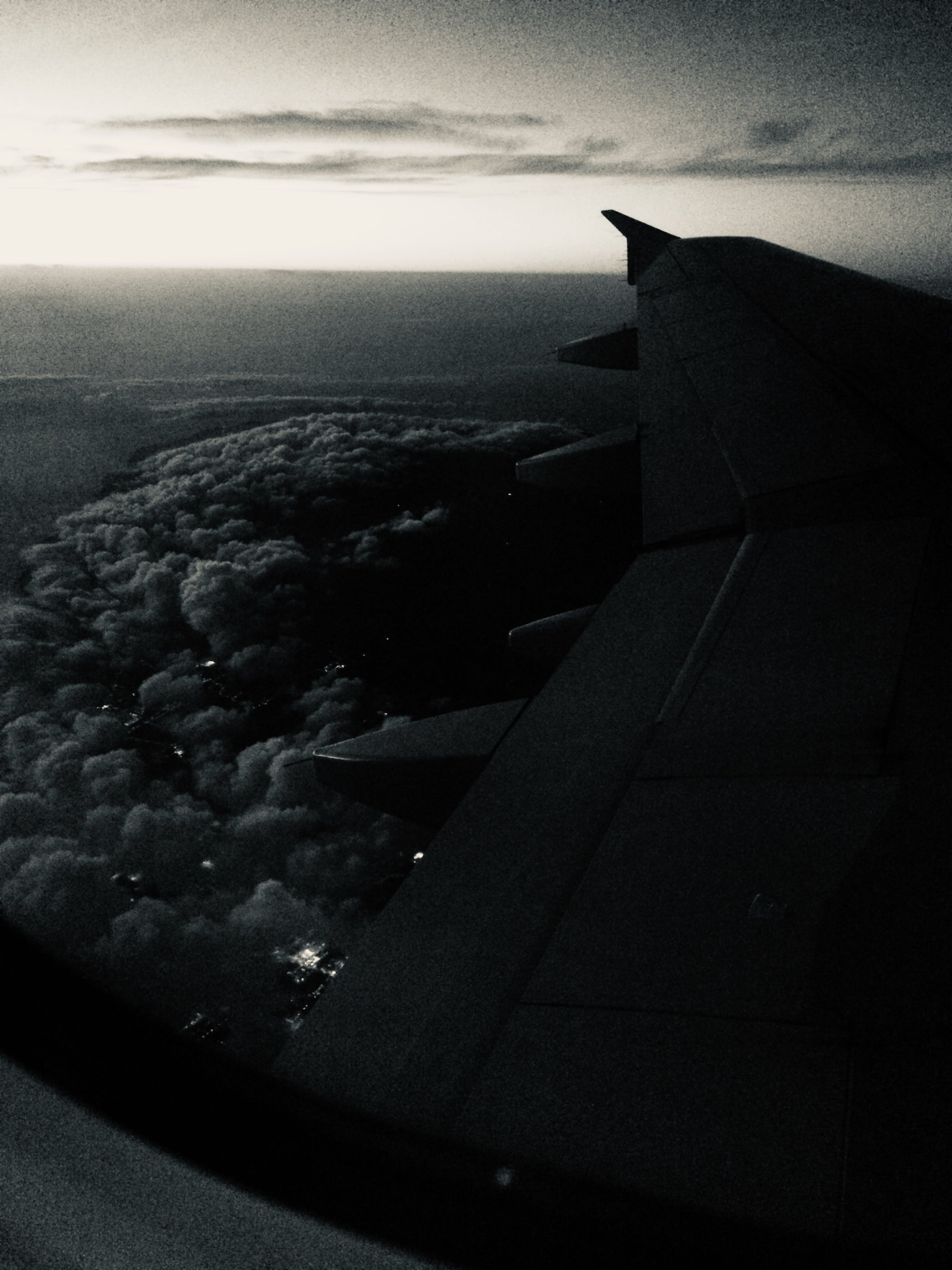 Free stock photo of airplane, airplane wing, cloud