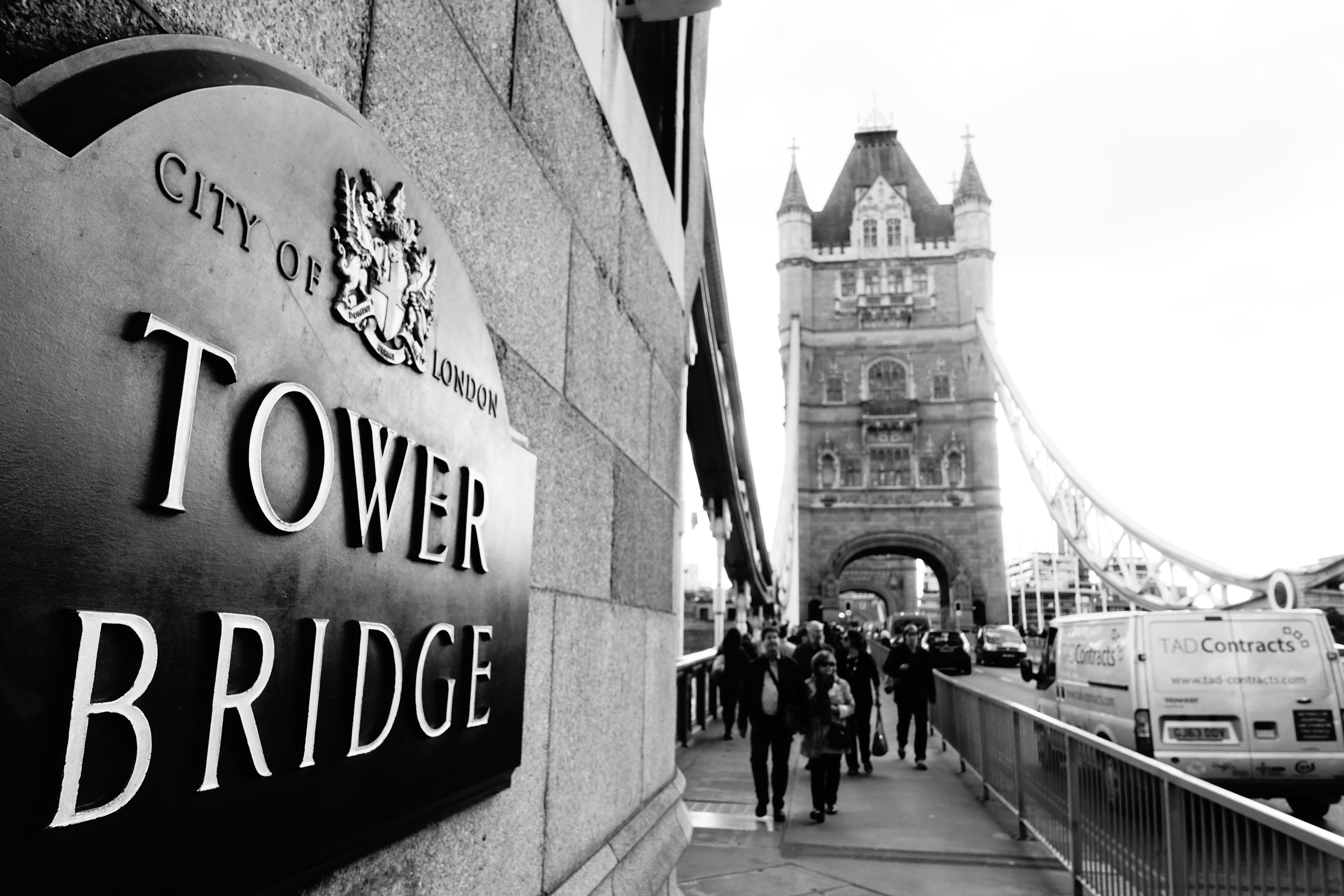 Free stock photo of black and white, bridge, london, Tower Bridge