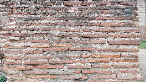 Free stock photo of Old roman bricks, texture