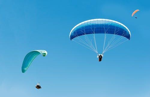 글라이더, 낙하산, 날으는, 레저의 무료 스톡 사진
